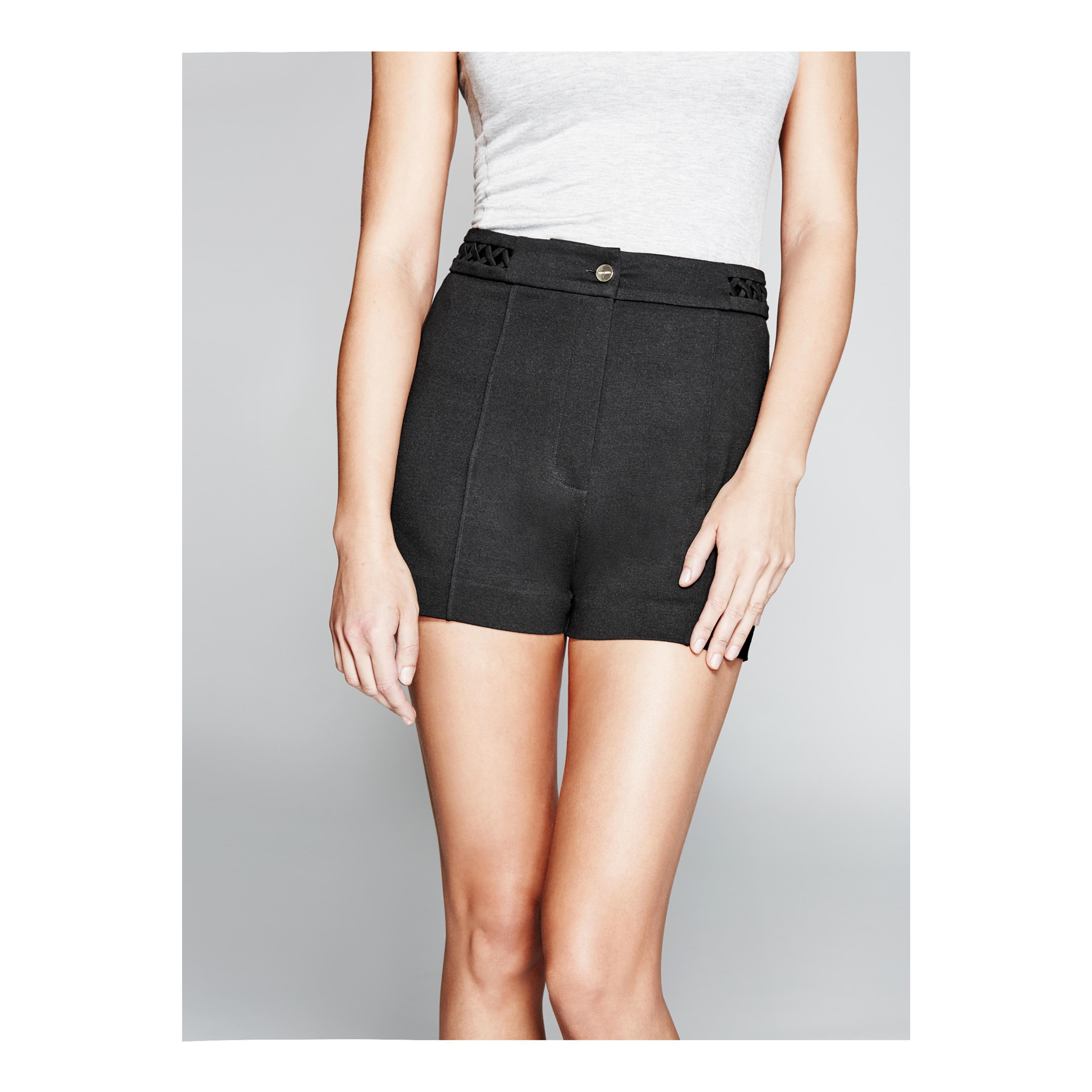 ae7890f3870 Lyst - Guess Mariella Ponte Short in Black