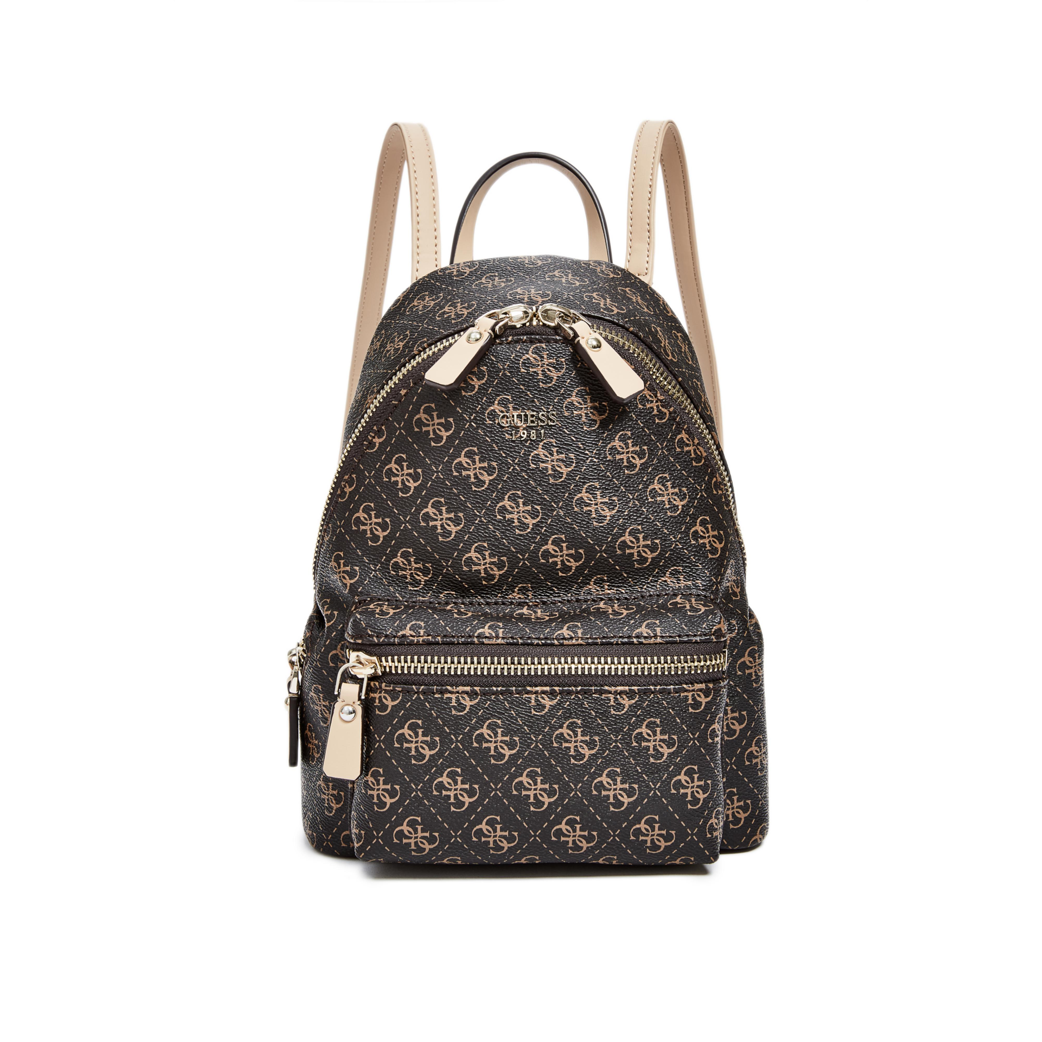 Guess Leeza Small Backpack In Brown Lyst
