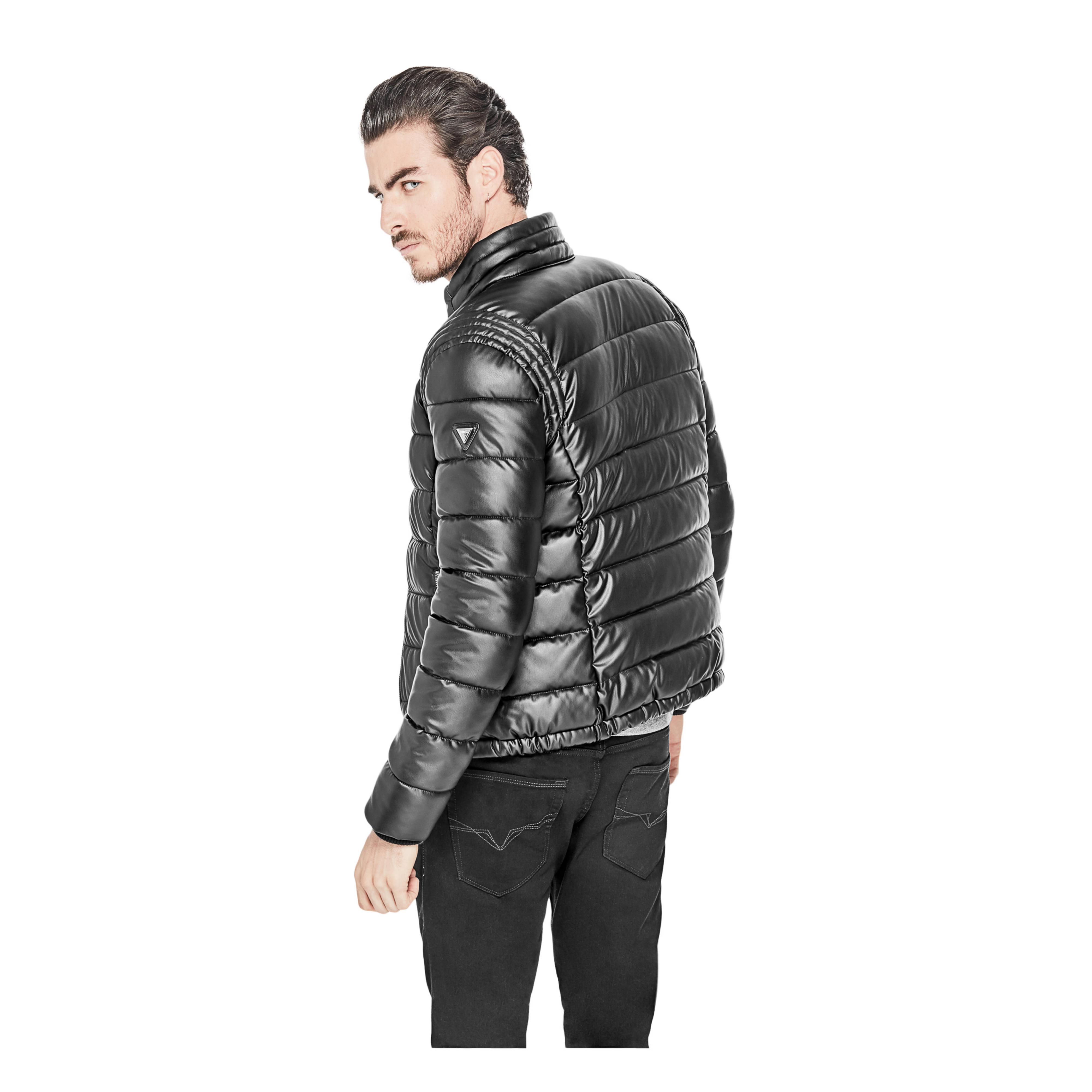 Guess smart stretch jacket in black for men lyst jpg 4000x4000 Guess puffer  vest for men d1b1ab8aae8