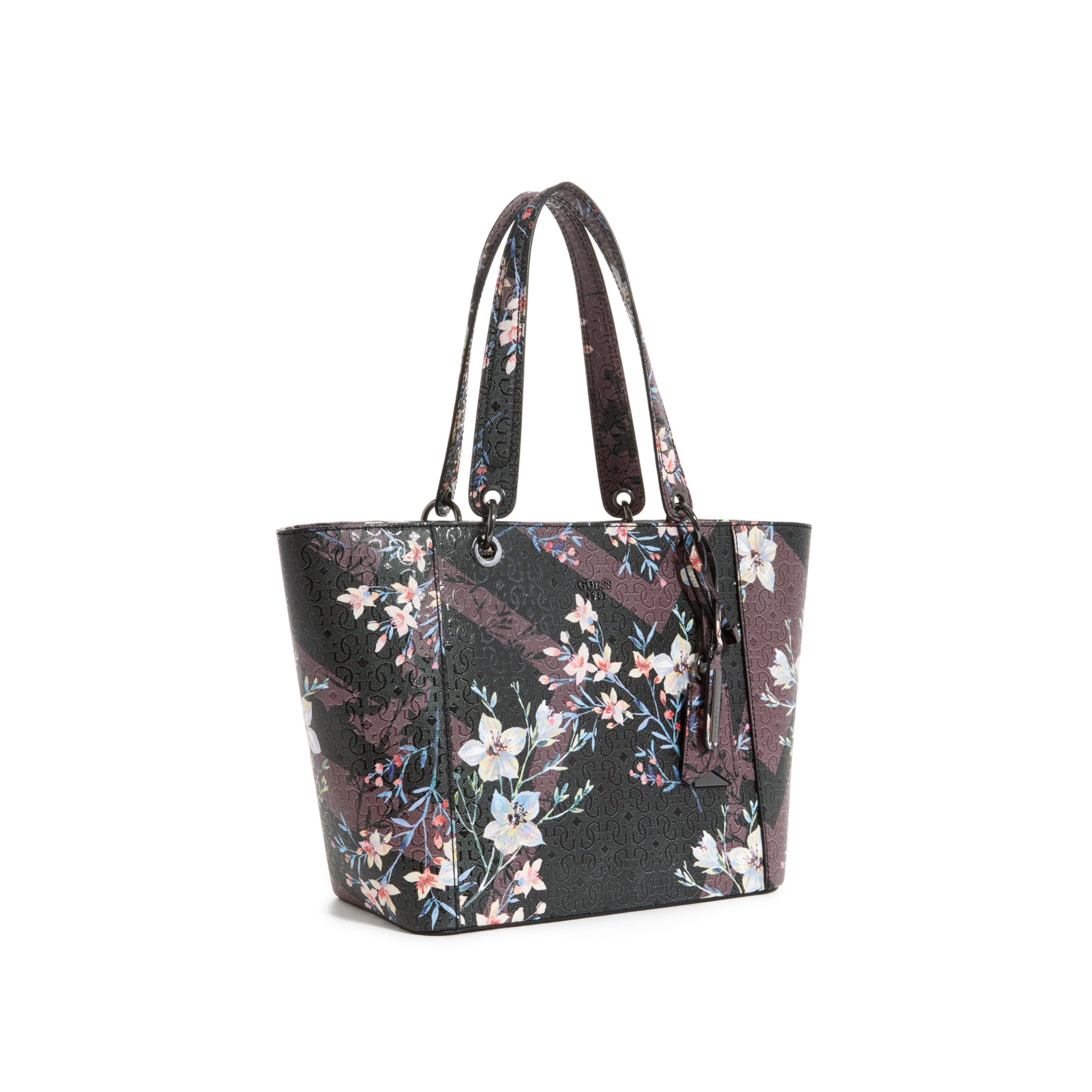 Lyst - Guess Kamryn Floral Tote