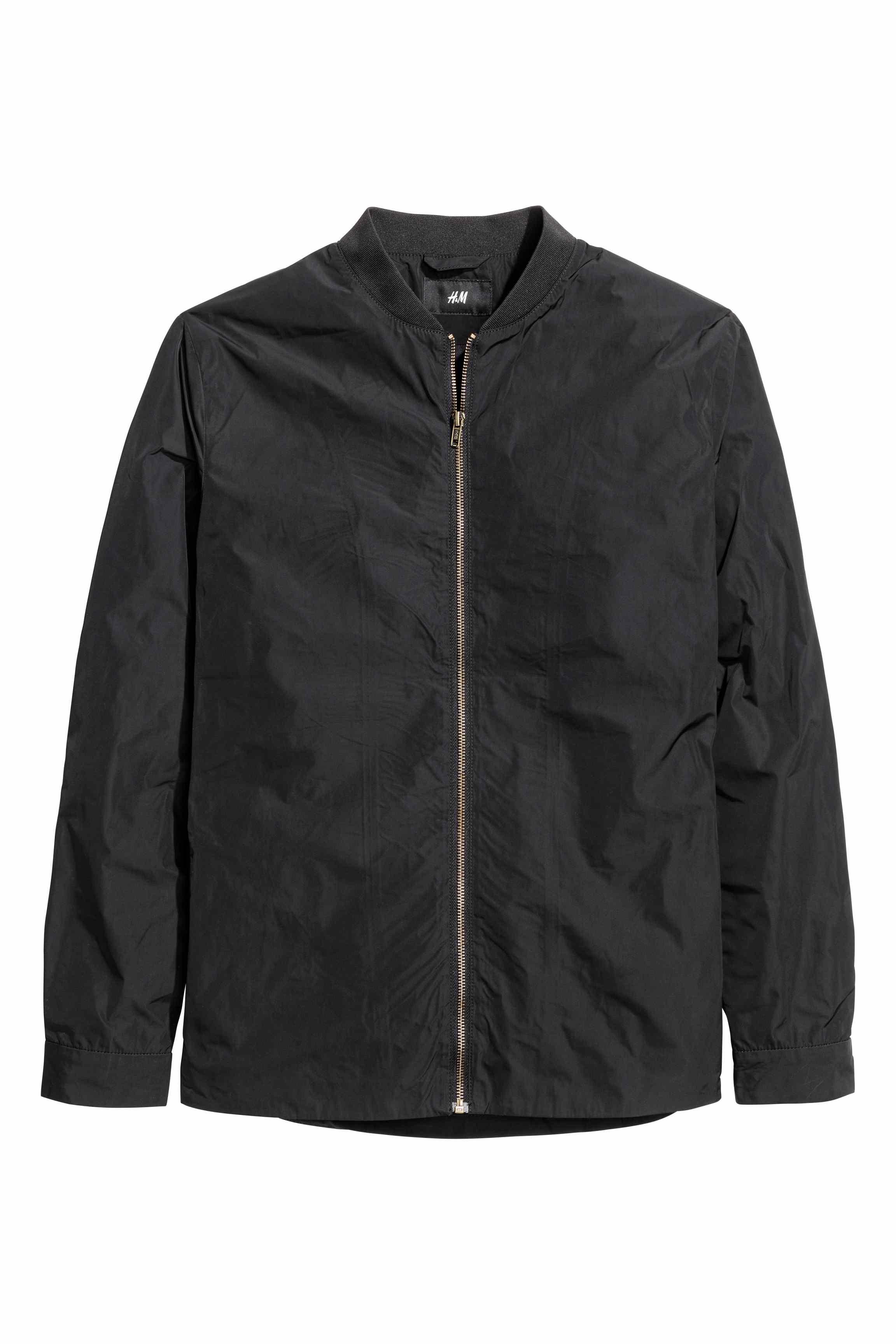 Hu0026m Bomber Jacket In Black For Men | Lyst