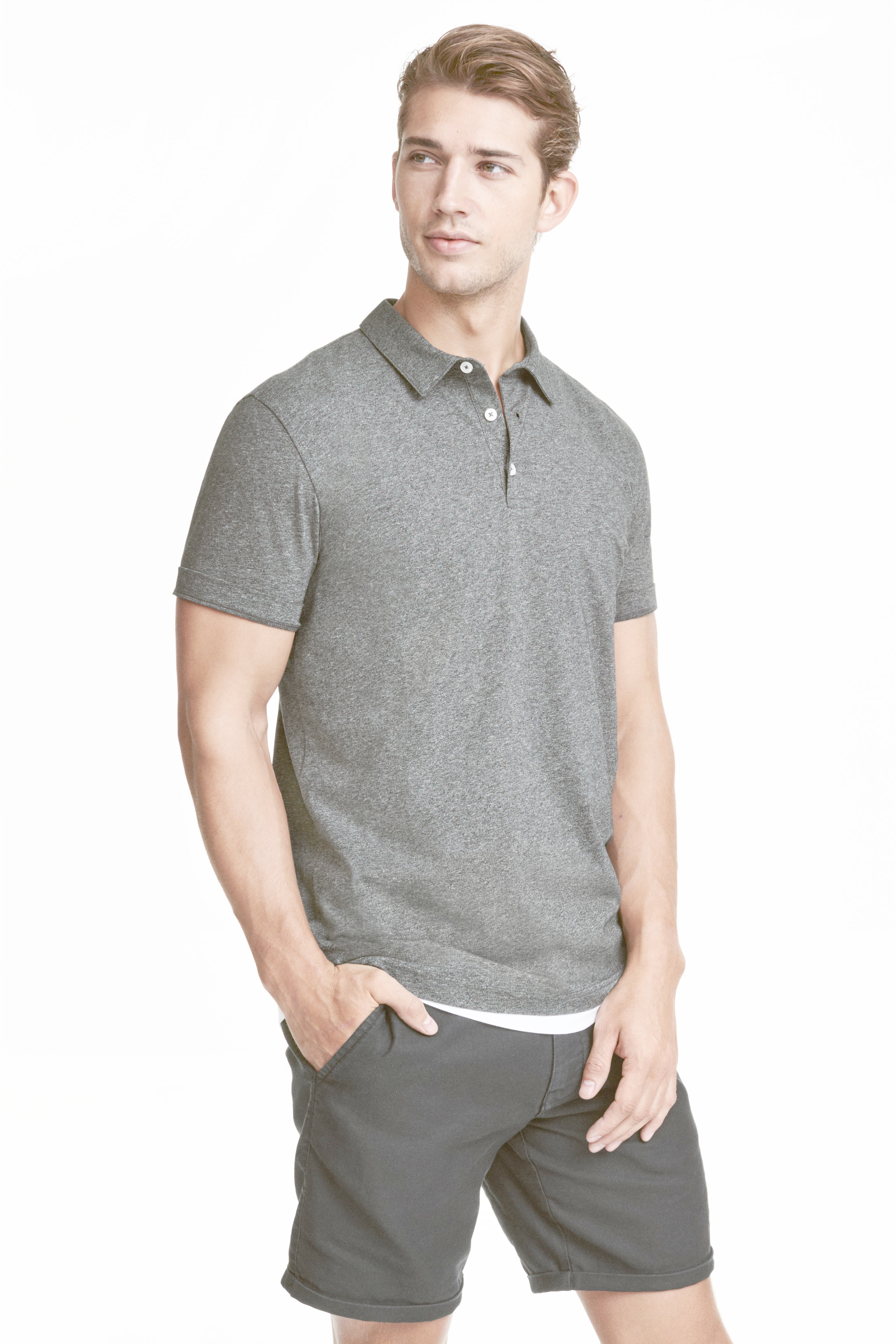 Lyst h m polo shirt in gray for men for H m polo shirt mens