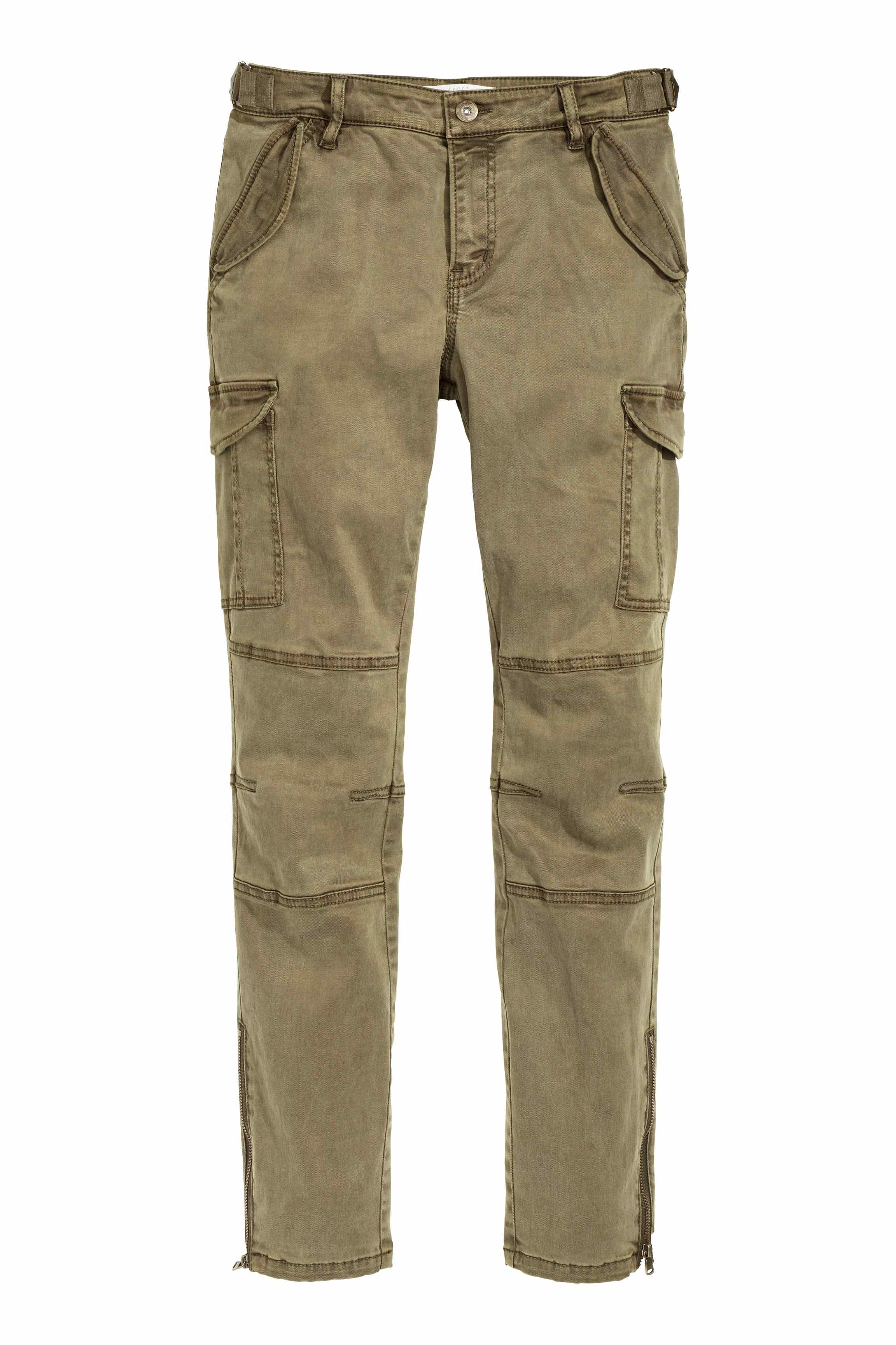H Amp M Cargo Pants In A Lyocell Blend In Green Lyst