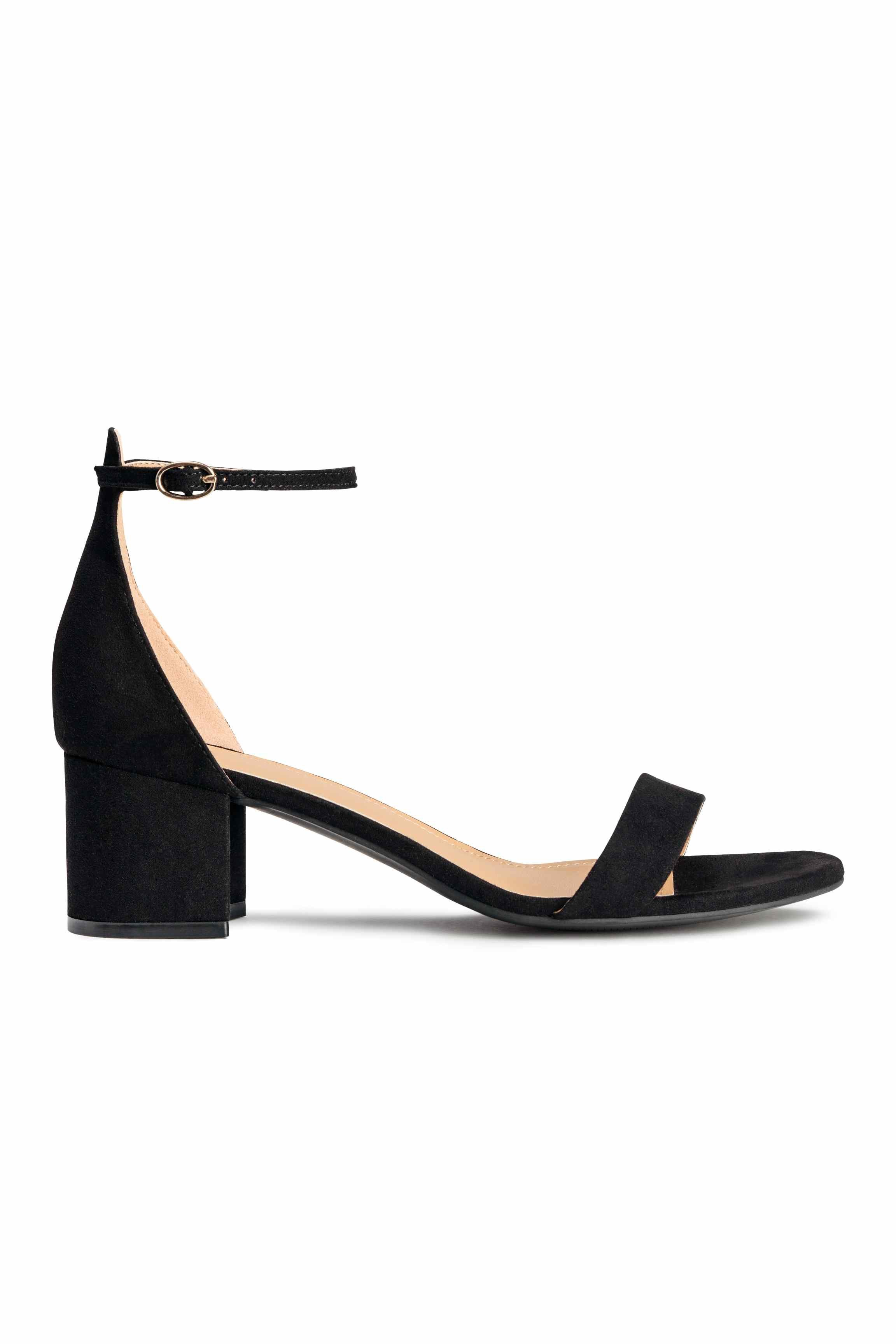 h m ankle sandals in black lyst