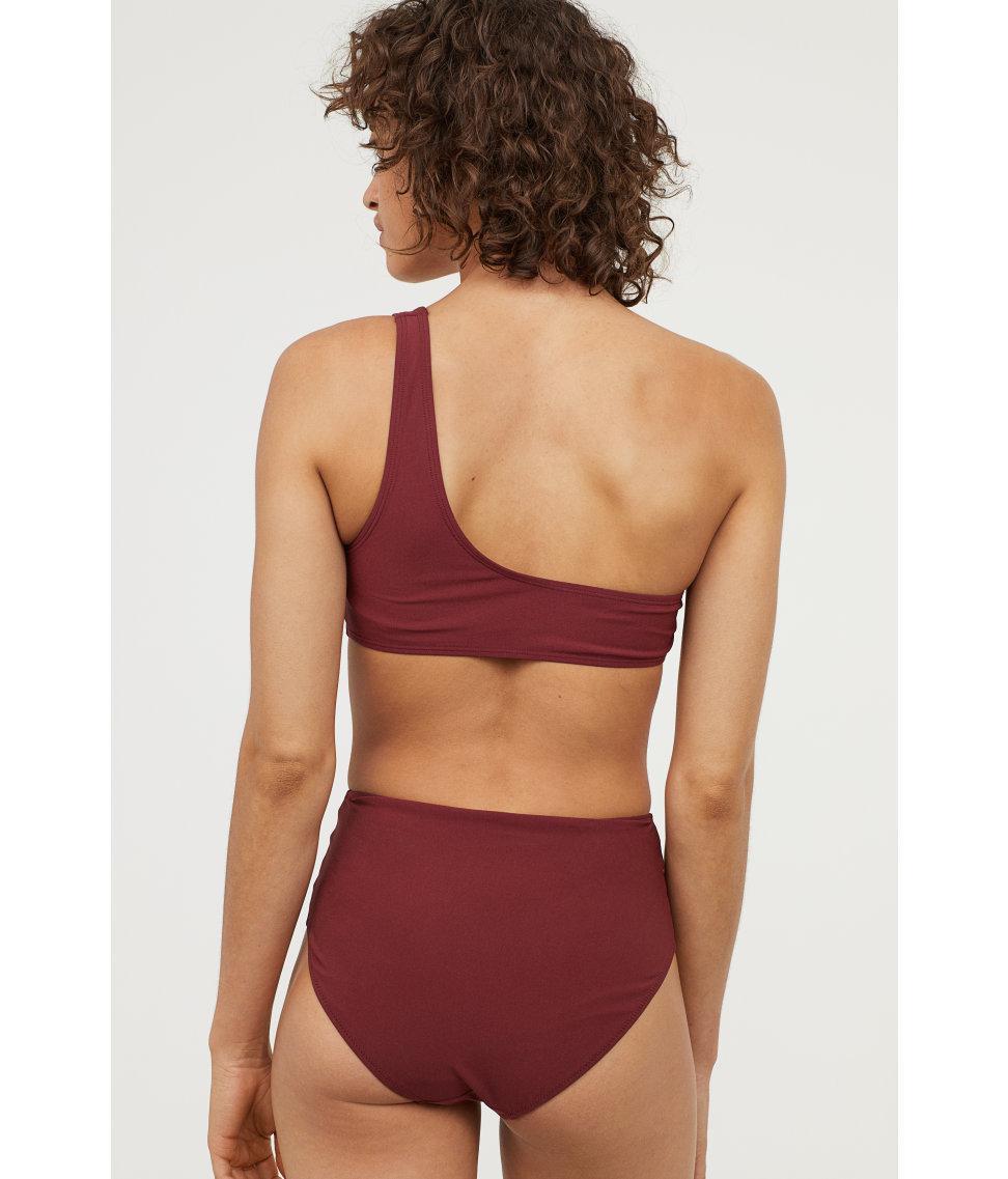 ba805ca2bf92d Lyst - H M One-shoulder Bikini Top in Red