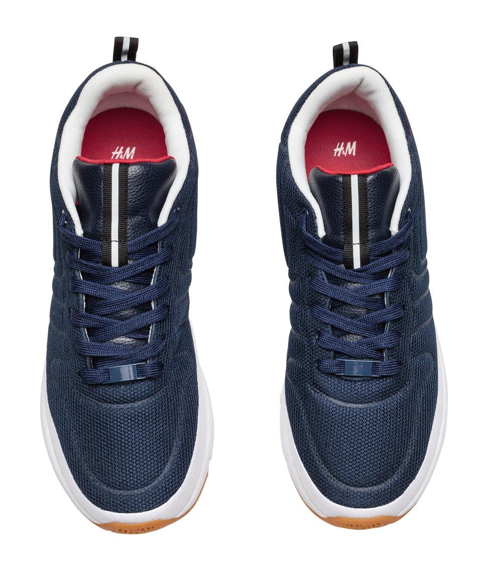 c365c827f6 Lyst - H M Mesh Trainers in Blue for Men