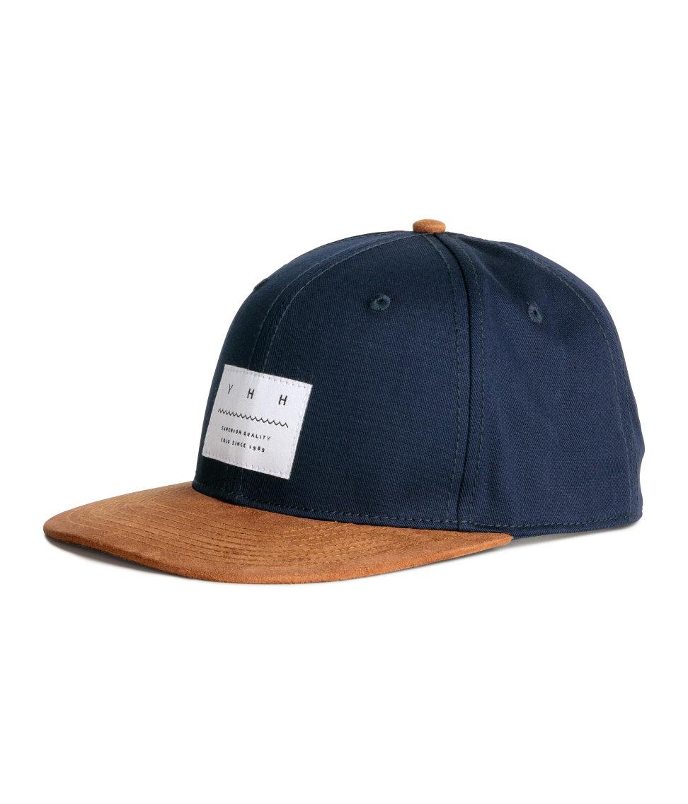 cec0d97fccf Lyst - H M Cap With Appliqué in Blue for Men