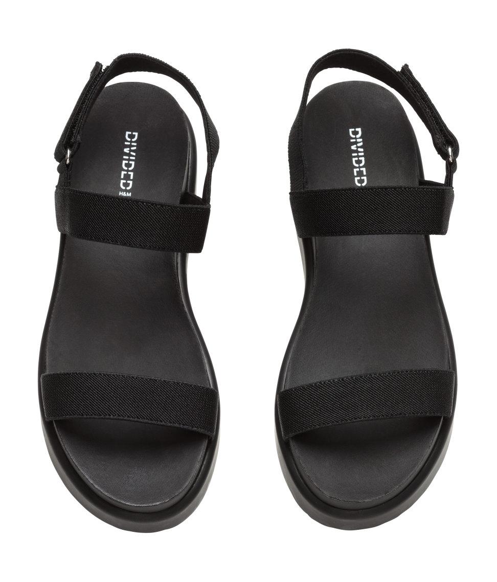 H Amp M Platform Sandals In Black Lyst