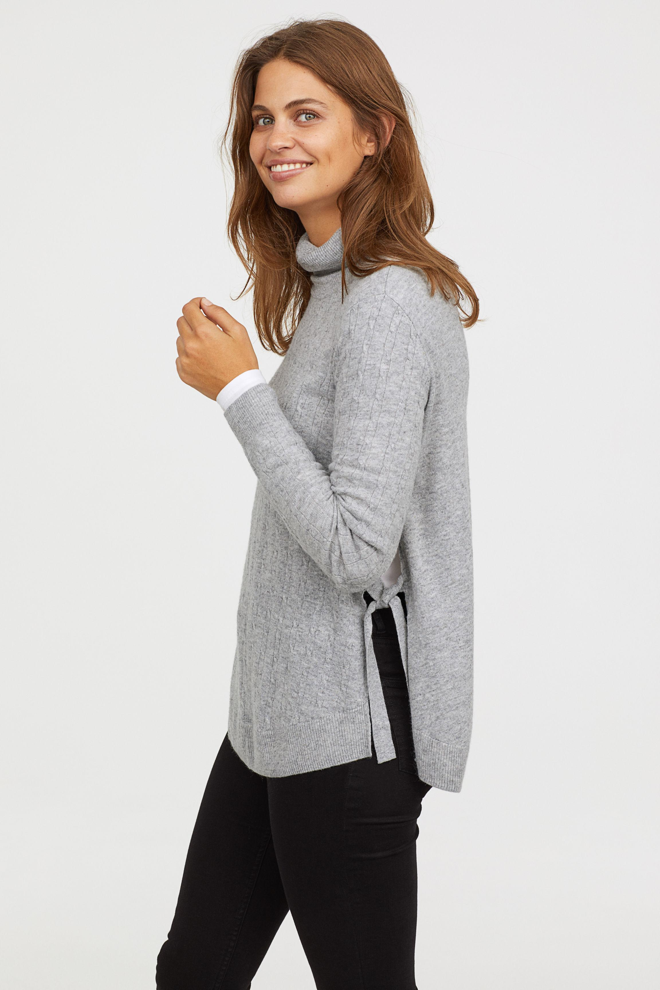 819d61e837285 H&M Mama Knit Nursing Sweater in Gray - Lyst