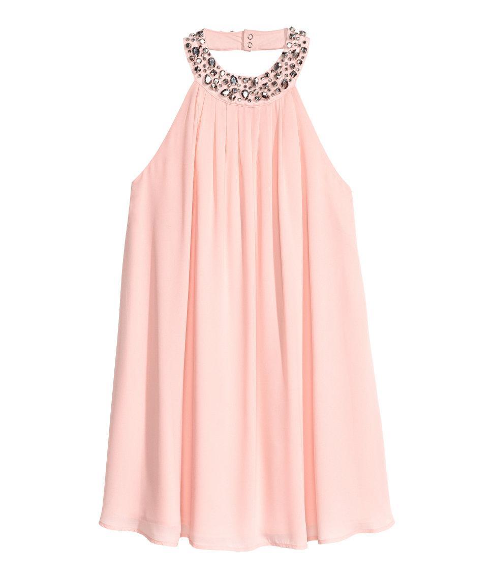 Lyst - H&M Chiffon Dress in Pink