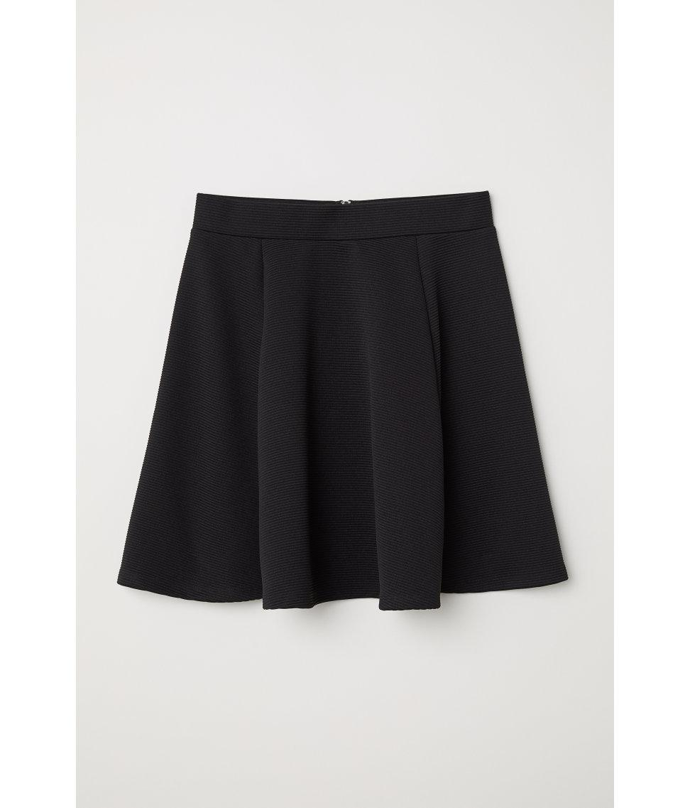 Lyst - H&M Skater Skirt in Black
