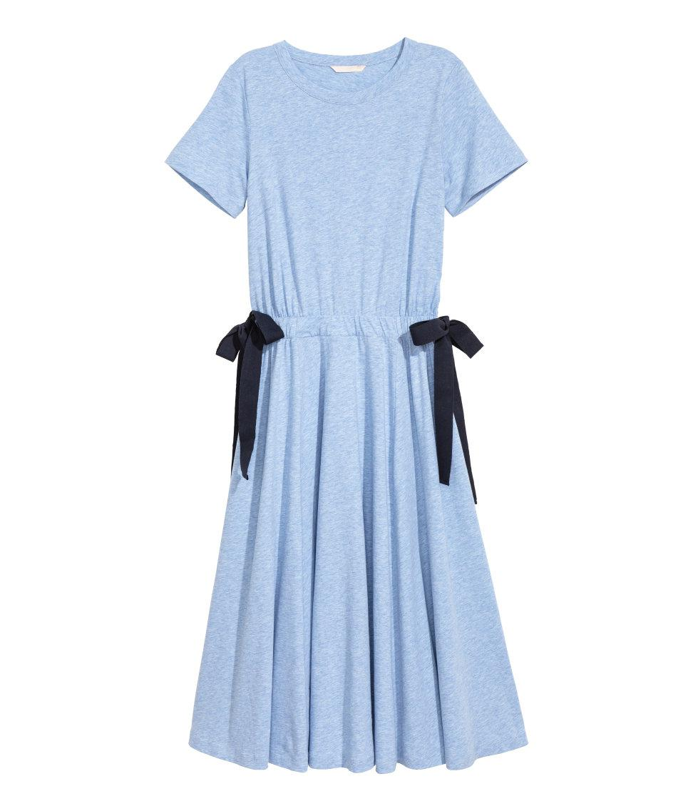Light Blue Jersey Dresses