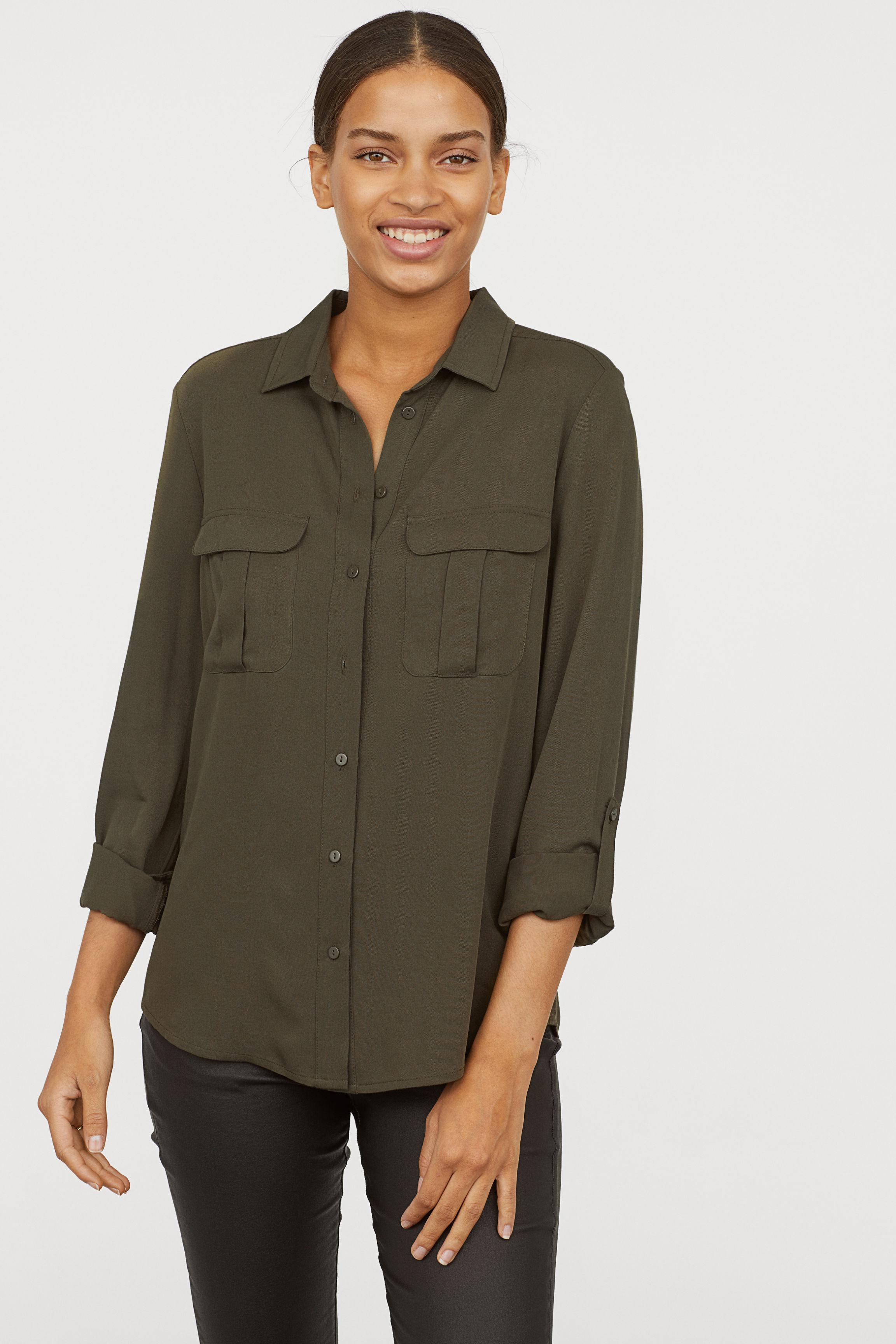 a44455bff70560 H M Shirt in Green - Lyst