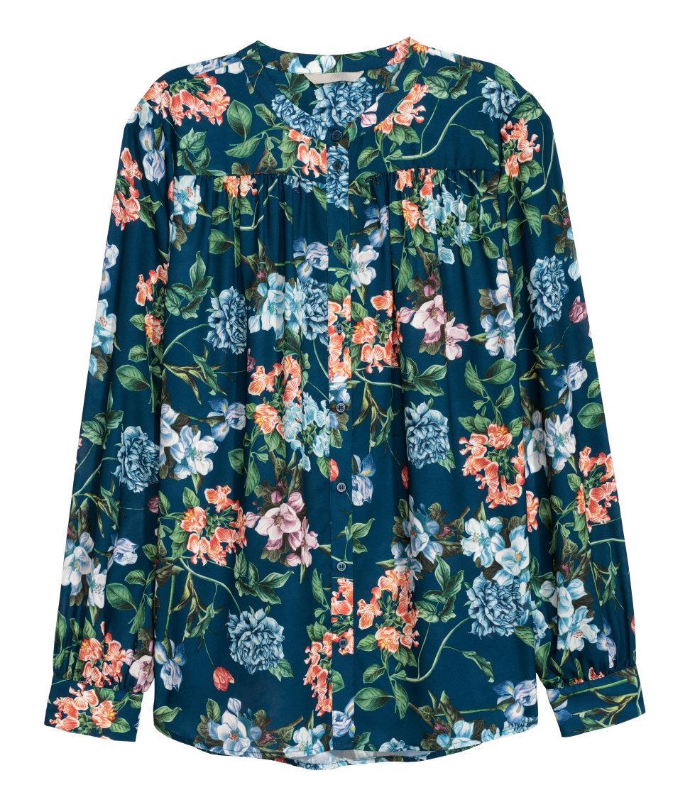 51846cebe06a Blue Button Up Shirt Hm