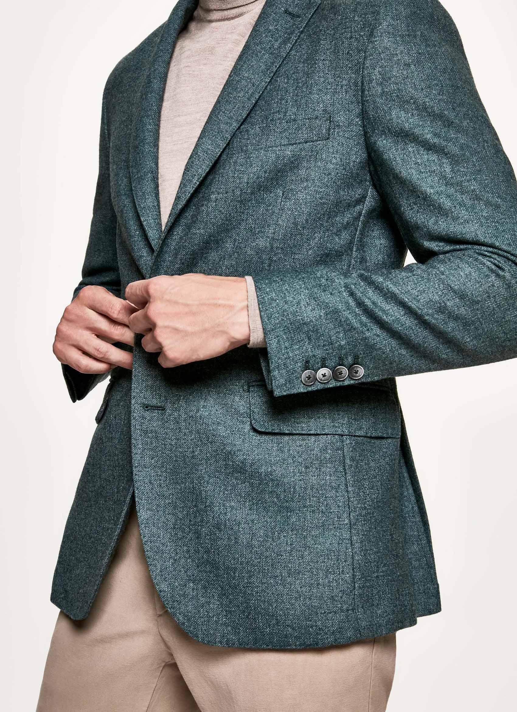 46faff4ba Hackett Wool-blend Blazer in Green for Men - Save 59% - Lyst