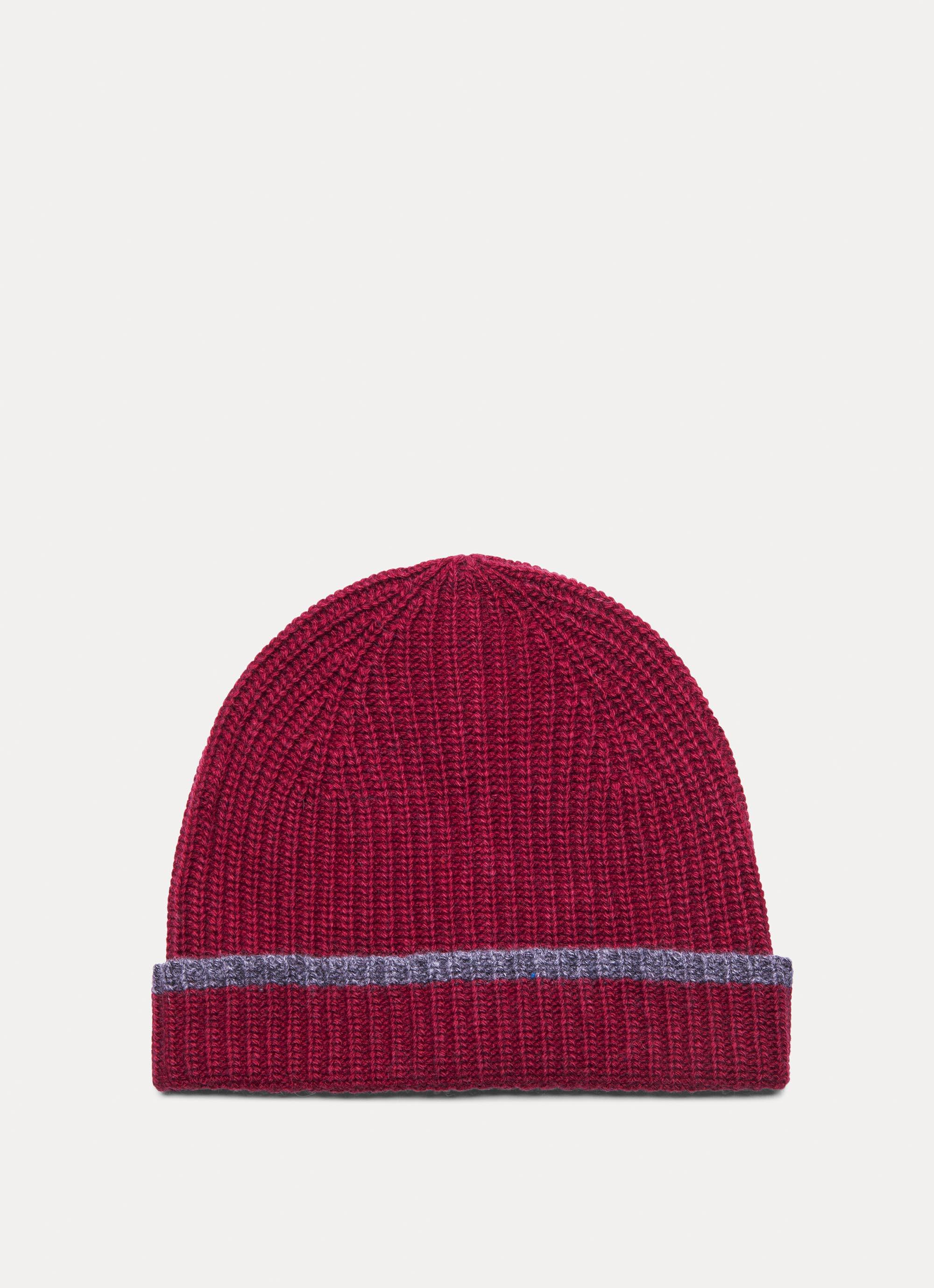 f01a4b5cf93 Hackett Ribbed Wool And Cashmere Blend Beanie Hat in Red for Men - Lyst