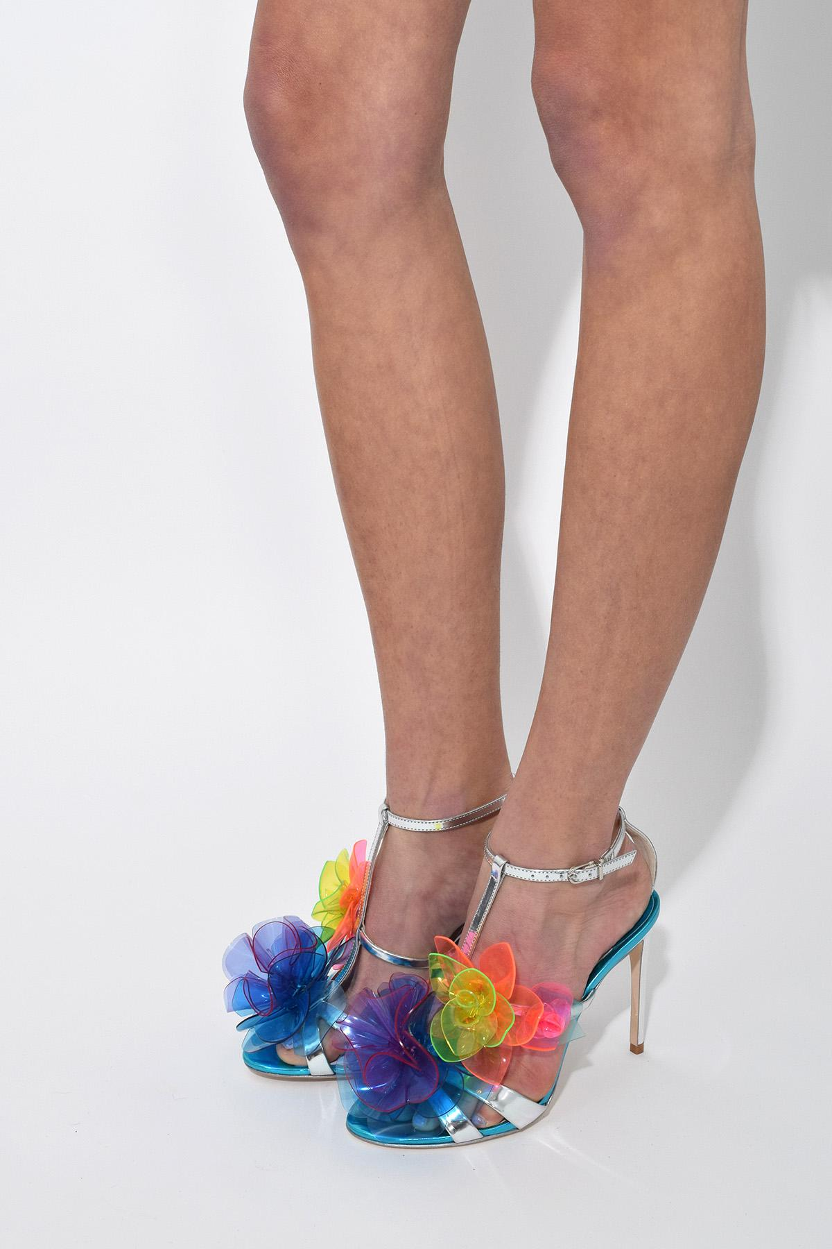 c65cc42bb4a Lyst - Sophia Webster Jumbo Lilico Sandal In Silver Multi in Metallic