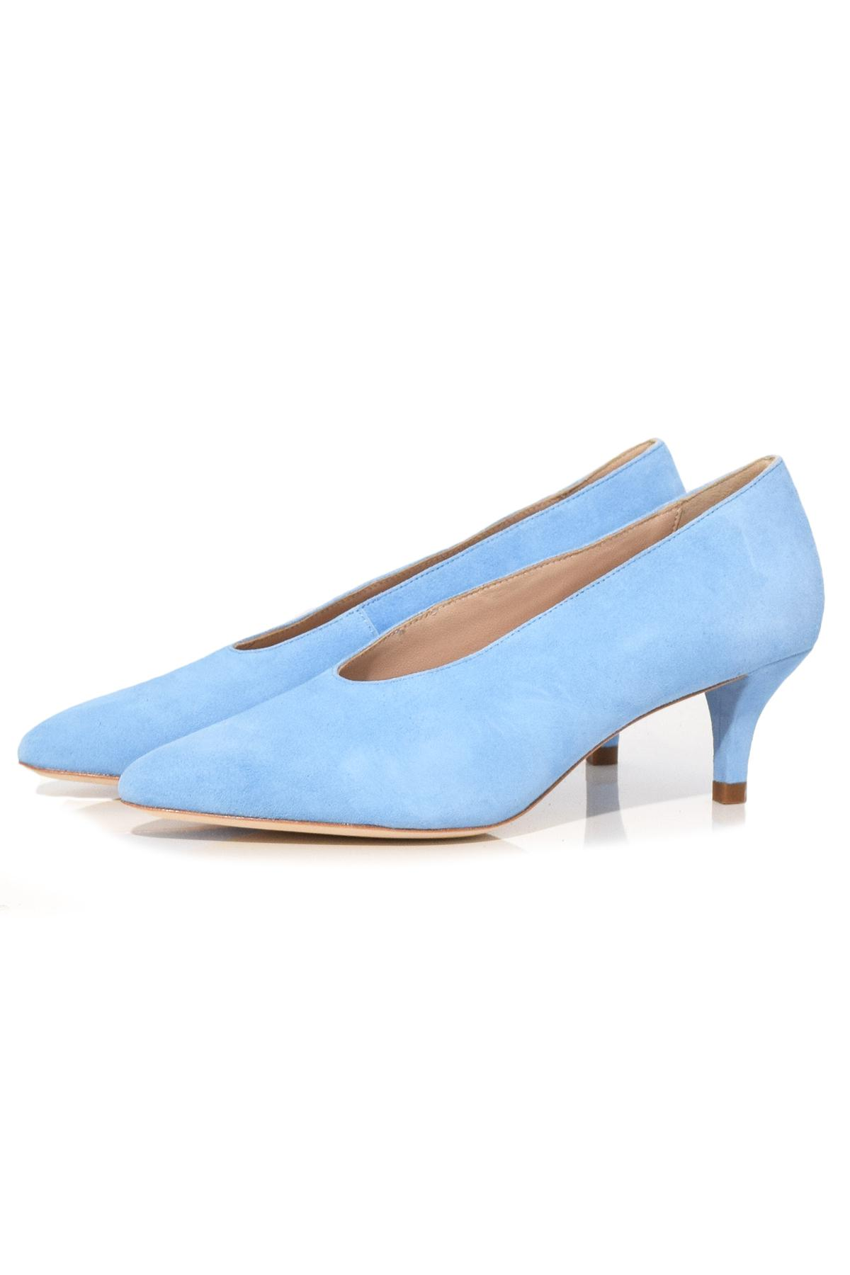 28a1a6532e9 Lyst - Loeffler Randall Suede Pointed-toe Pumps in Blue