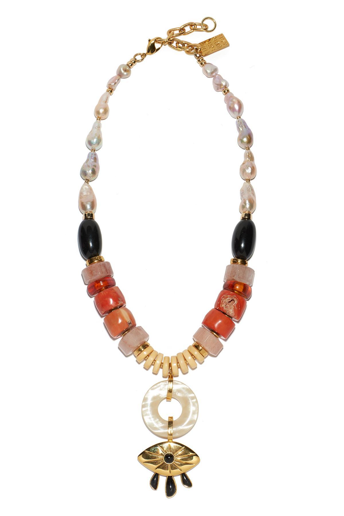 capri evil eye necklace - Yellow & Orange Lizzie Fortunato VHeiFRB