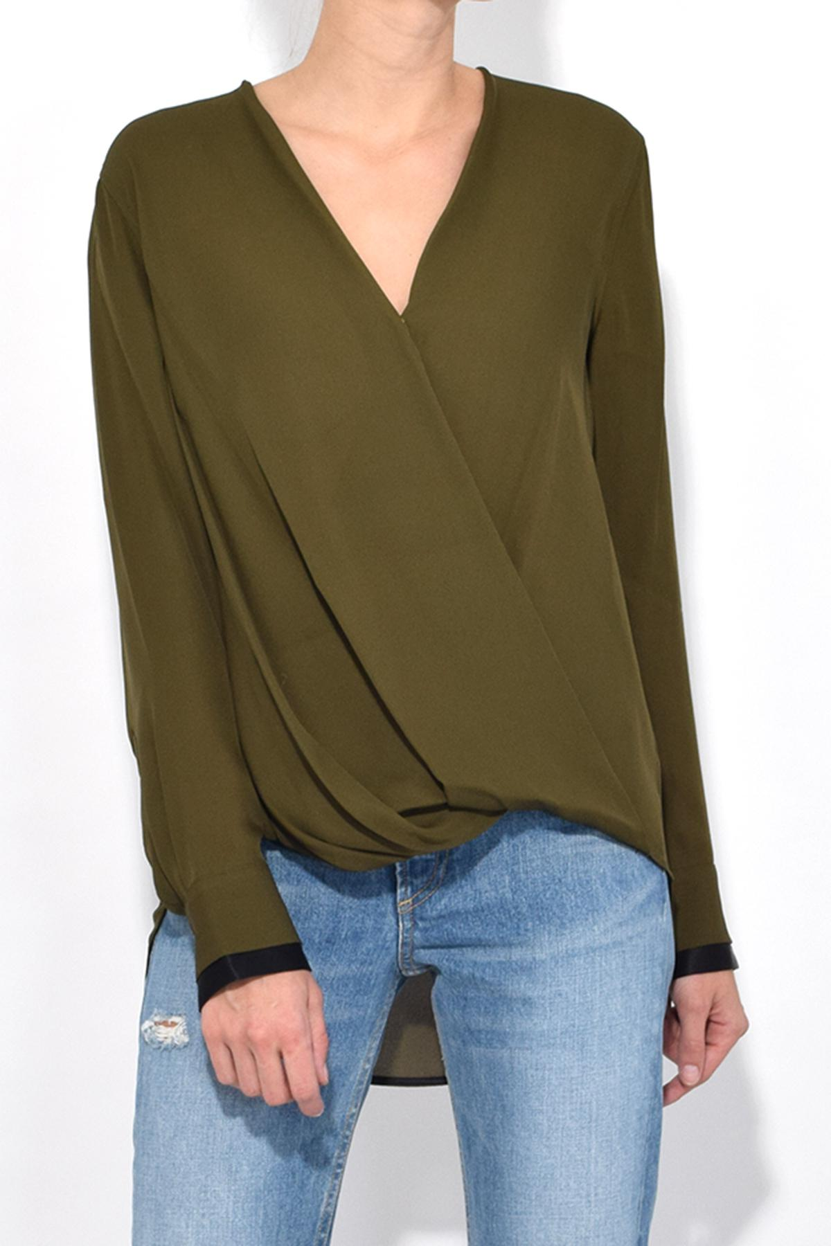7b27f531f69d69 Rag & Bone Victor Blouse In Dark Olive in Green - Lyst