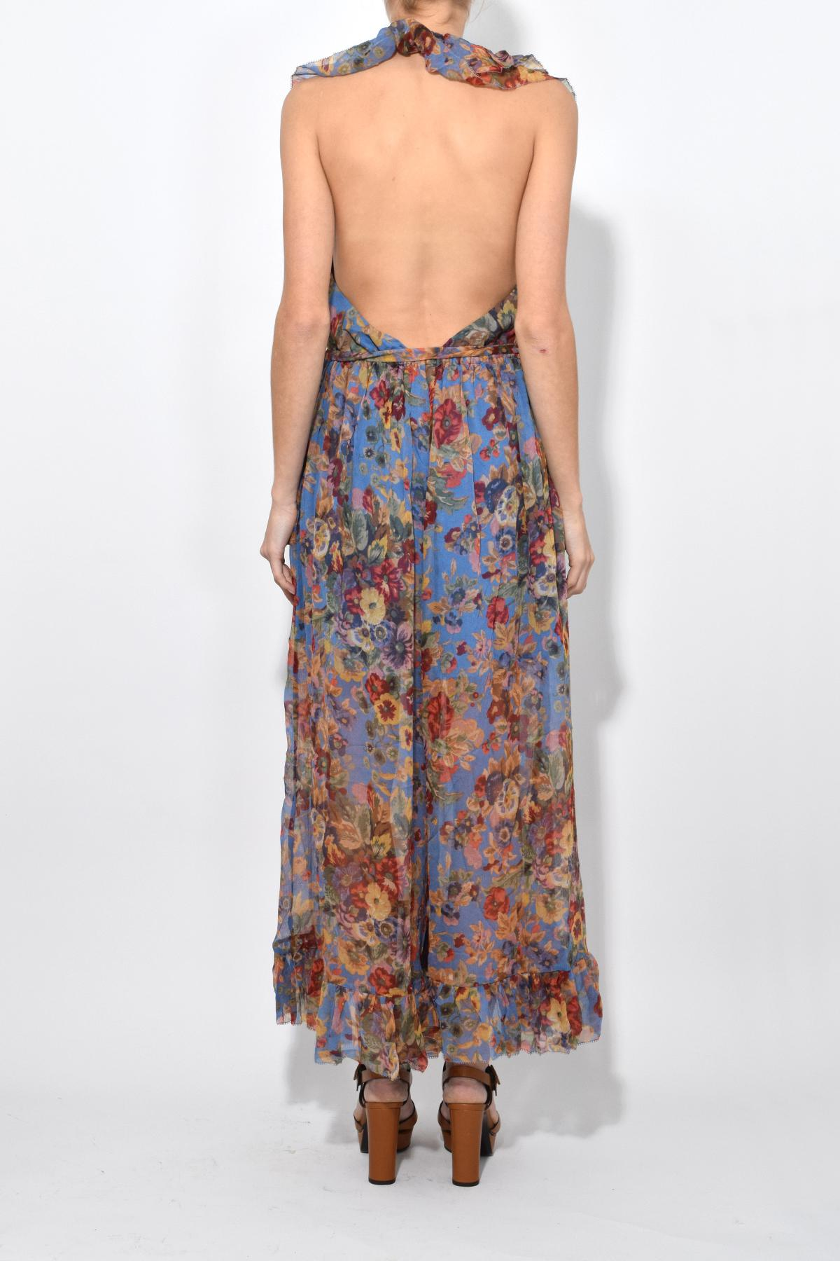 958e28e5a51 Lyst - Zimmermann Lovelorn Frill Jumpsuit In Blue Floral in Blue