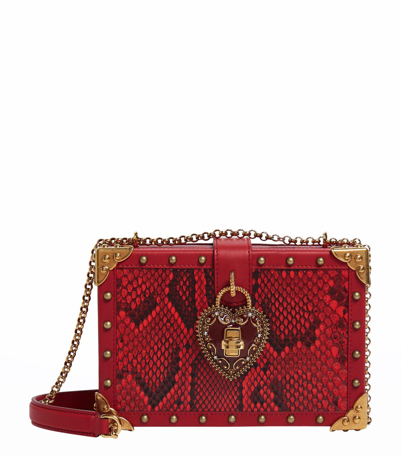 Dolce   Gabbana Heart Box Bag in Red - Lyst 881e588ad2f78