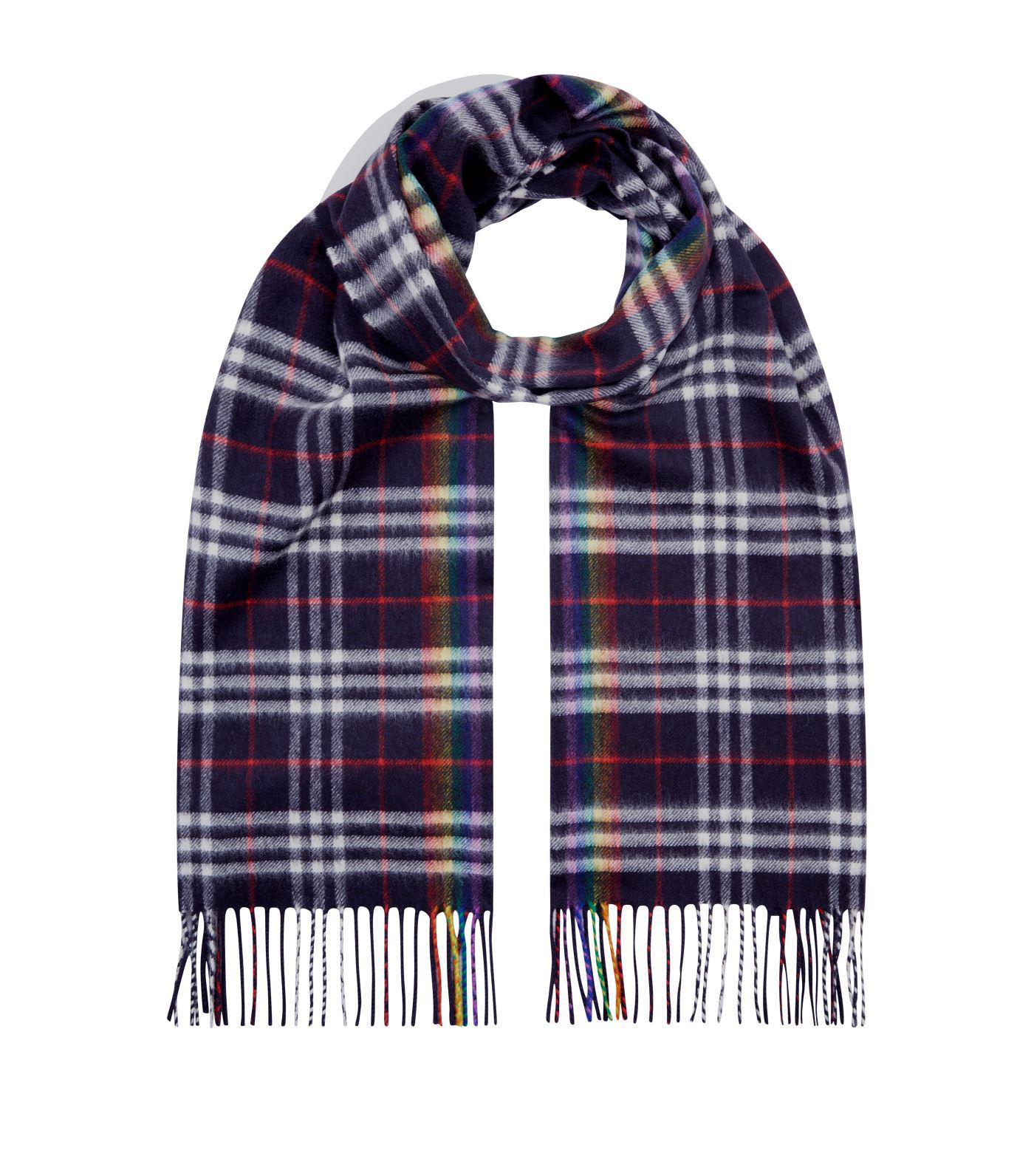 429c1babd02c Burberry The Classic Rainbow Check Cashmere Scarf in Blue - Save ...