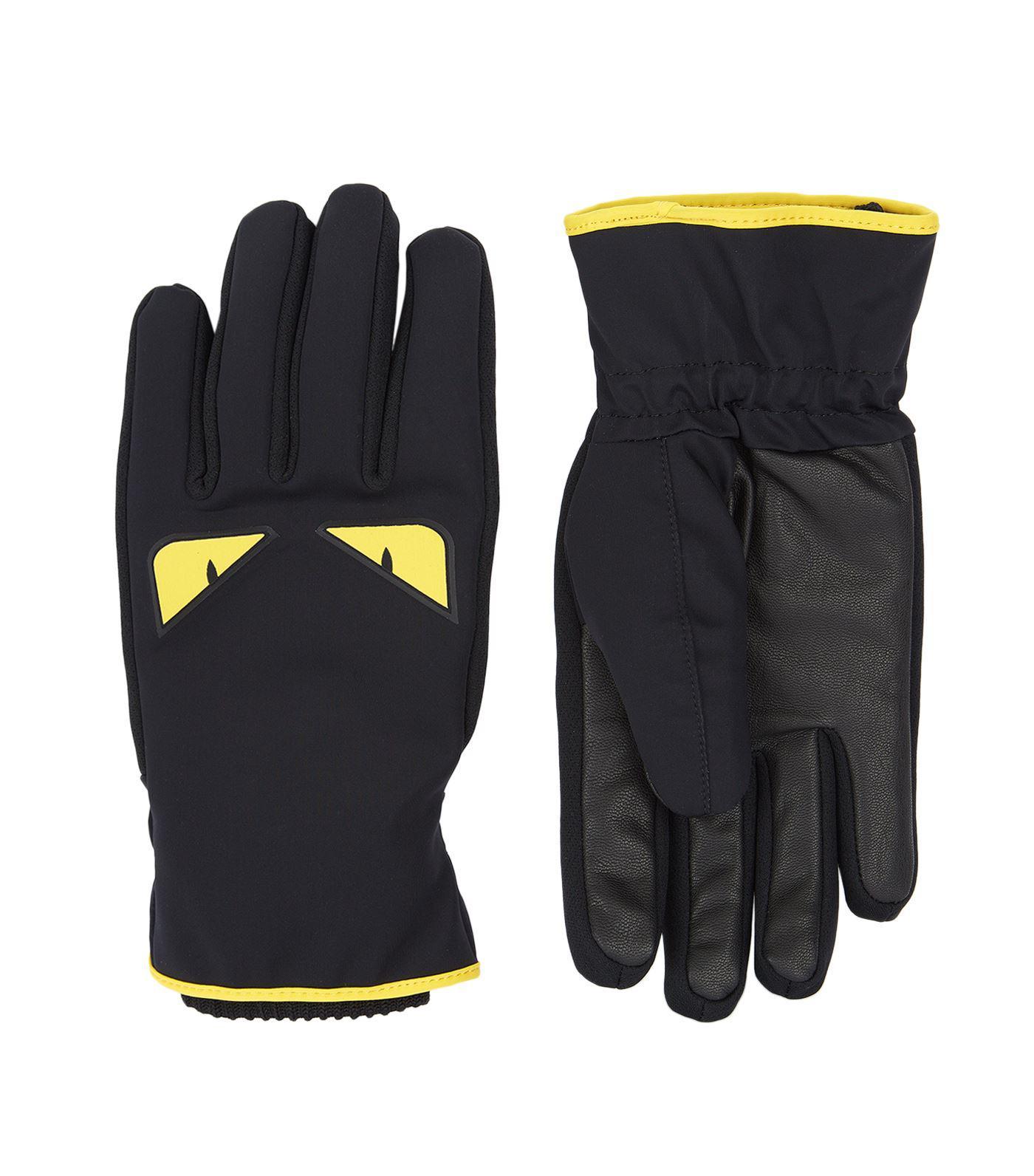 b946266a97f69 Lyst - Fendi Monster Eye Gloves in Black for Men