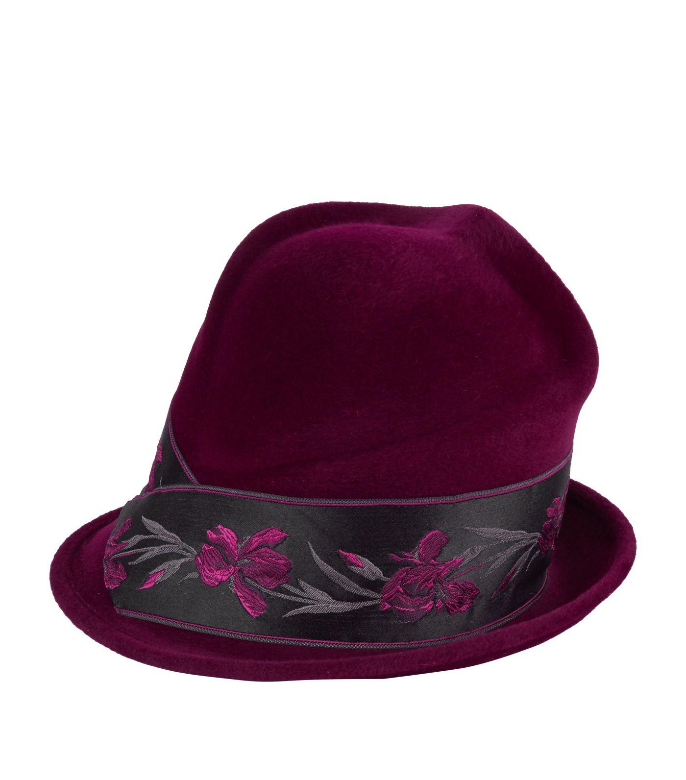 Philip Treacy Floral Band Side Sweep Hat in Purple - Lyst 2ddbe785cb11