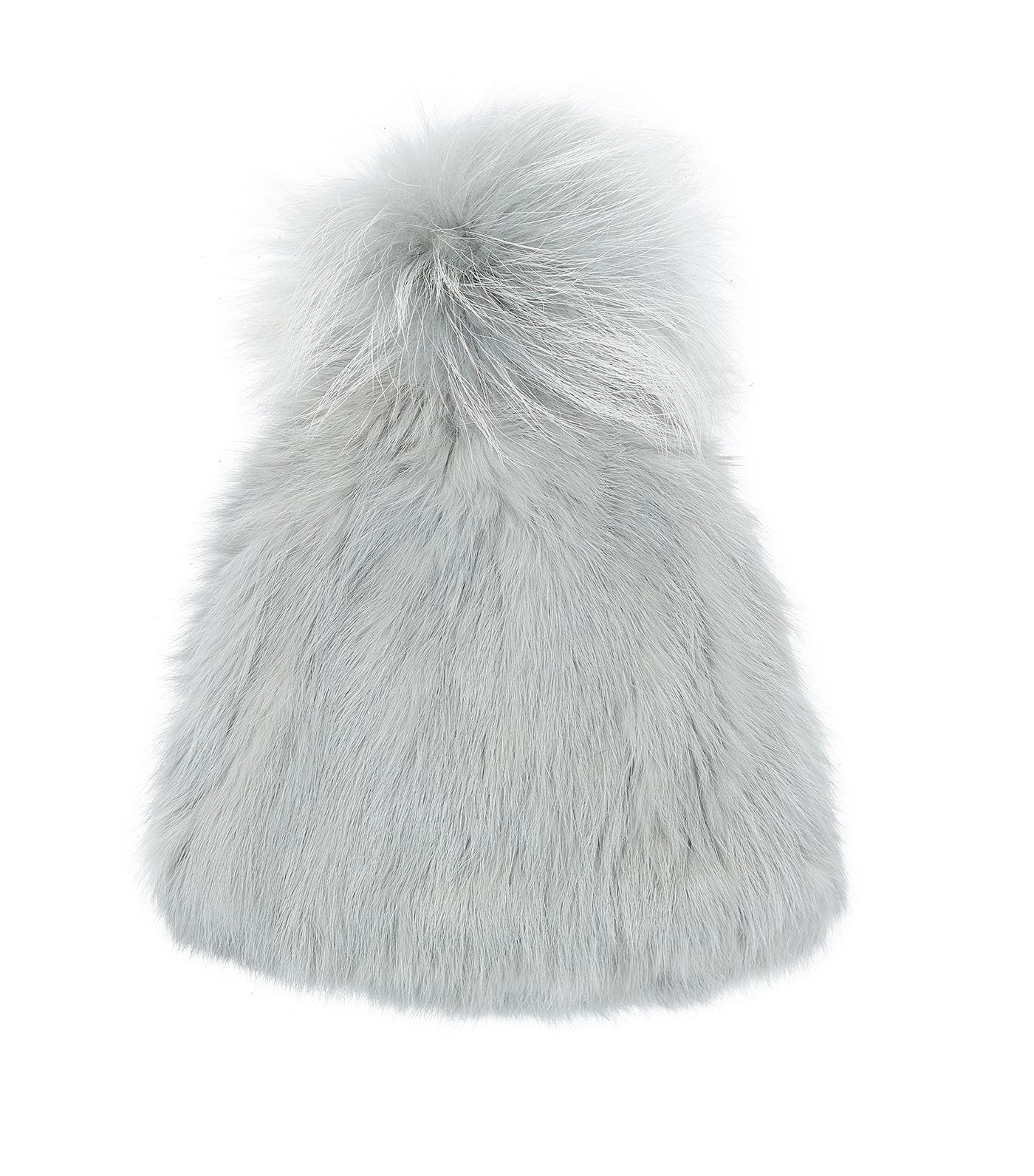 5bbae929c14 Lyst - Yves Salomon Rabbit Fur Bobble Hat in Green
