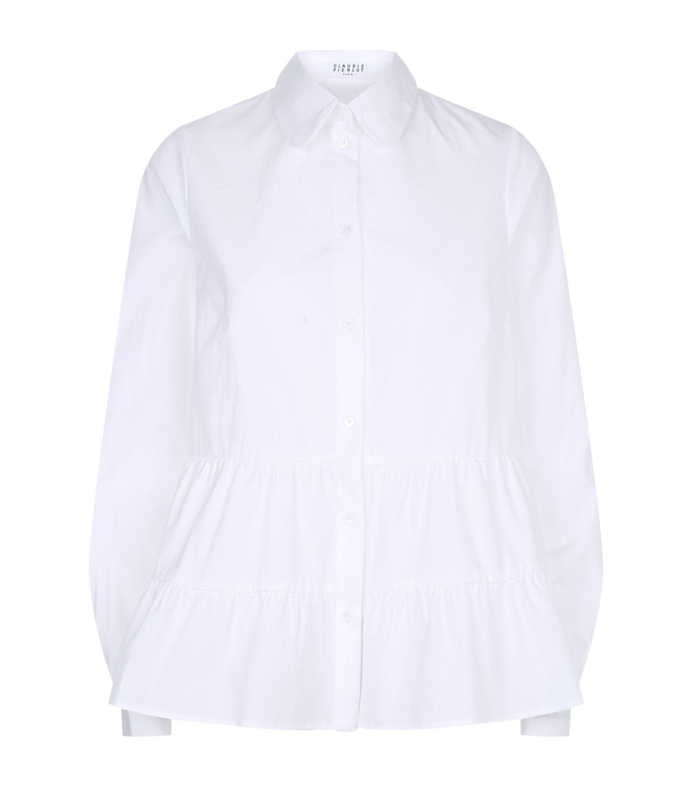 Claudie Pierlot Woman Ruffle-trimmed Knitted Top Pastel Pink Size 2 Claudie Pierlot Cheap Sale Inexpensive 2018 Online Sale Lowest Price Sale Online Store fKaFmQTT