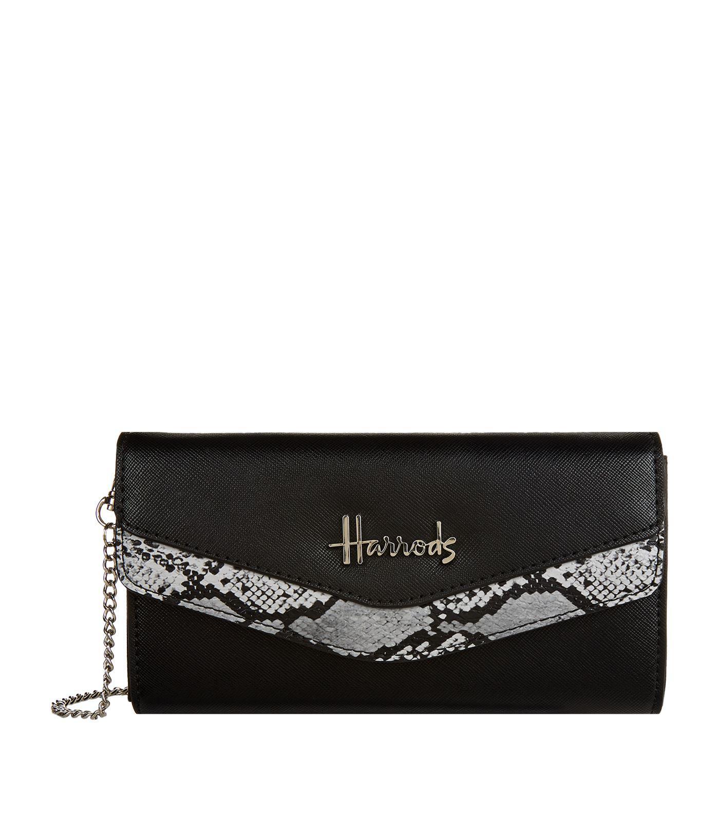 53dd289b2b72 Harrods Matilda Snake Print Wallet in Black - Save ...