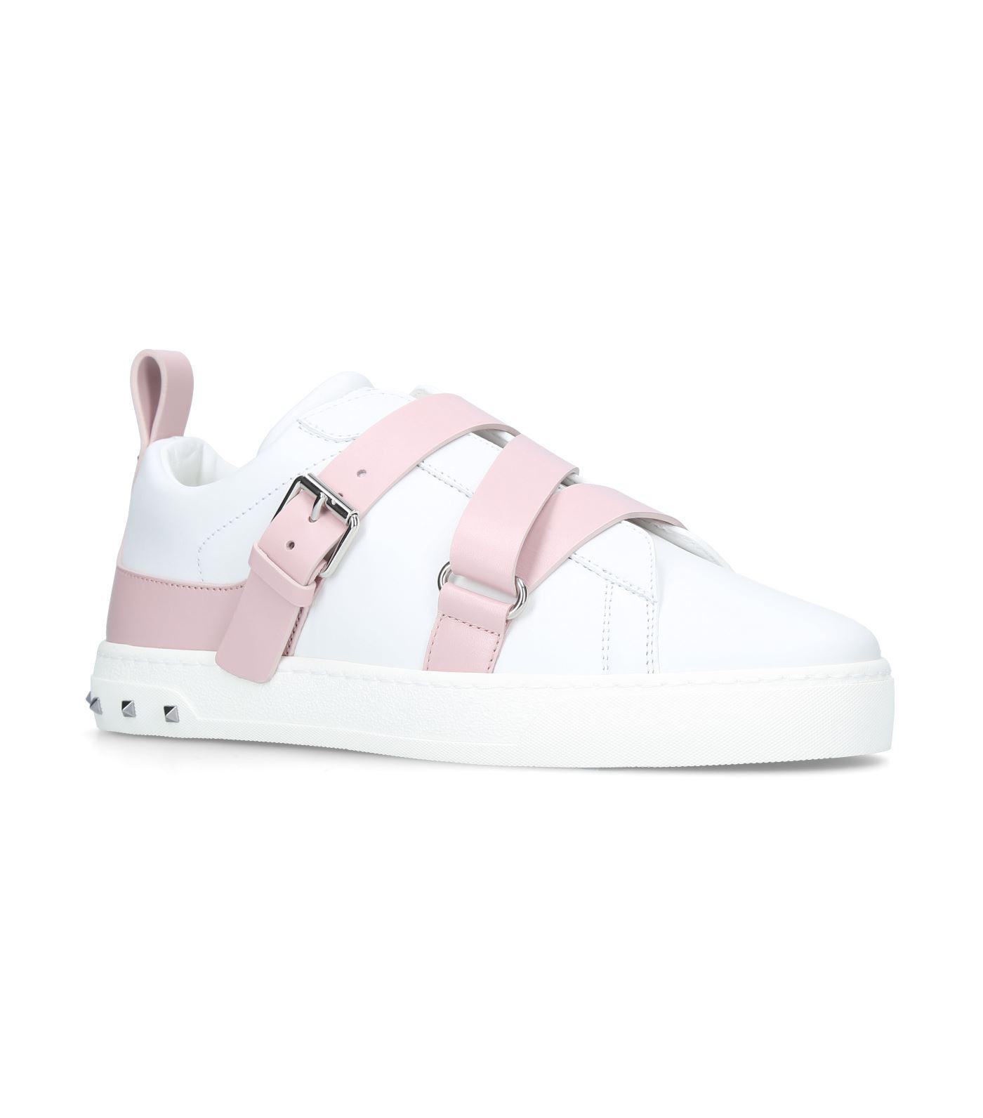 a3b8ac325fe72 Valentino V Punk Low Top Sneakers in Pink - Lyst