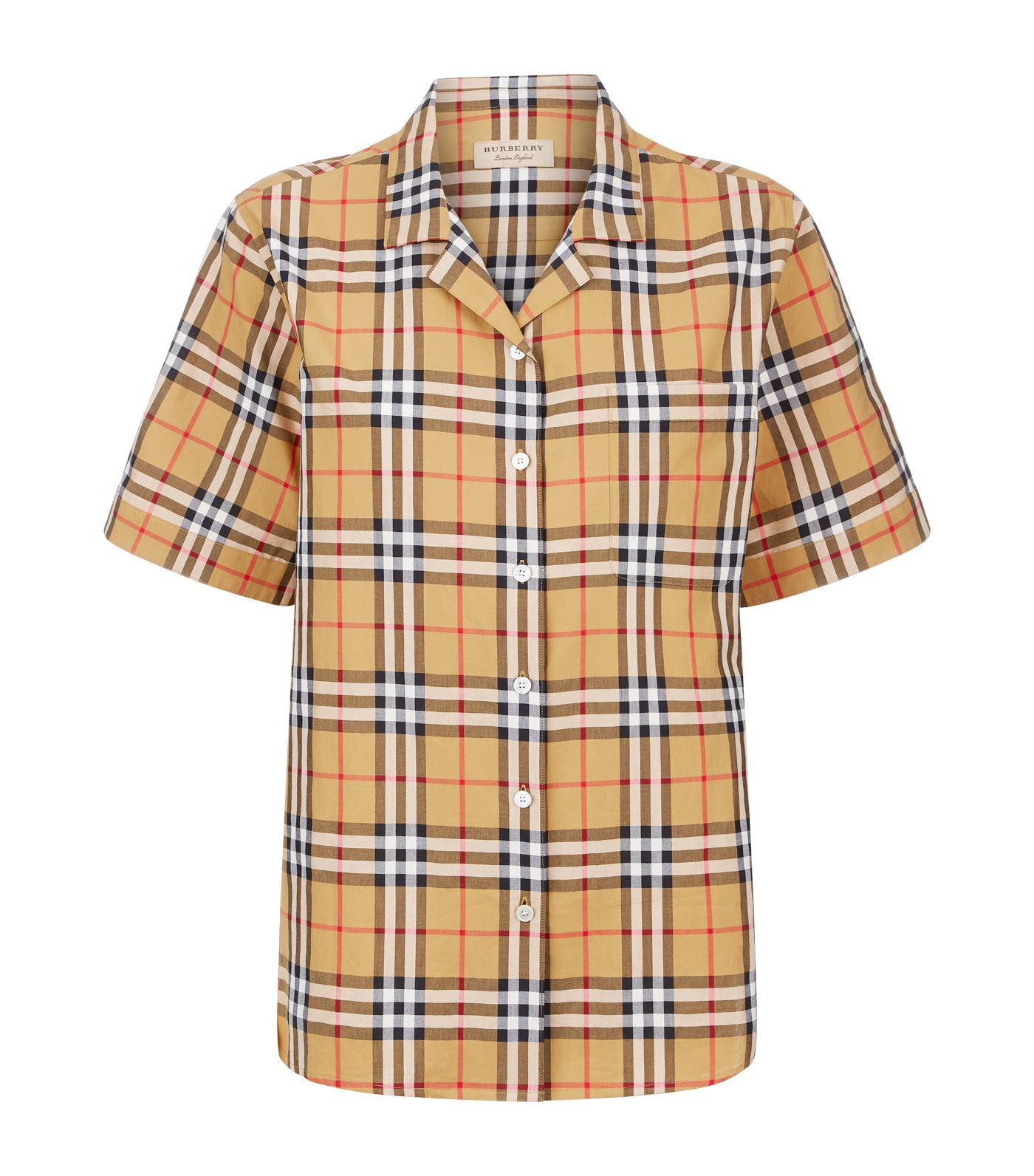 For Sale Cheap Price From China heritage check shirt - Yellow & Orange Burberry Get The Latest Fashion Latest Collections Online Sale Finishline izNHl89vGv