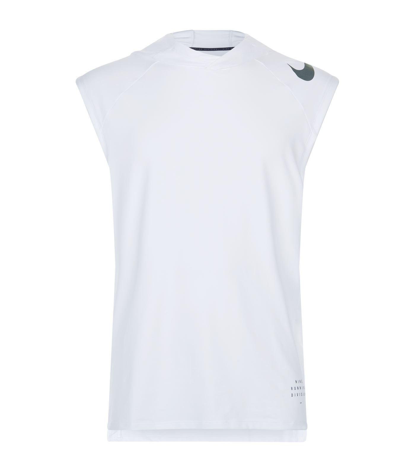 1094fb75949e3 Lyst - Nike Element Sleeveless Hoodie in White for Men