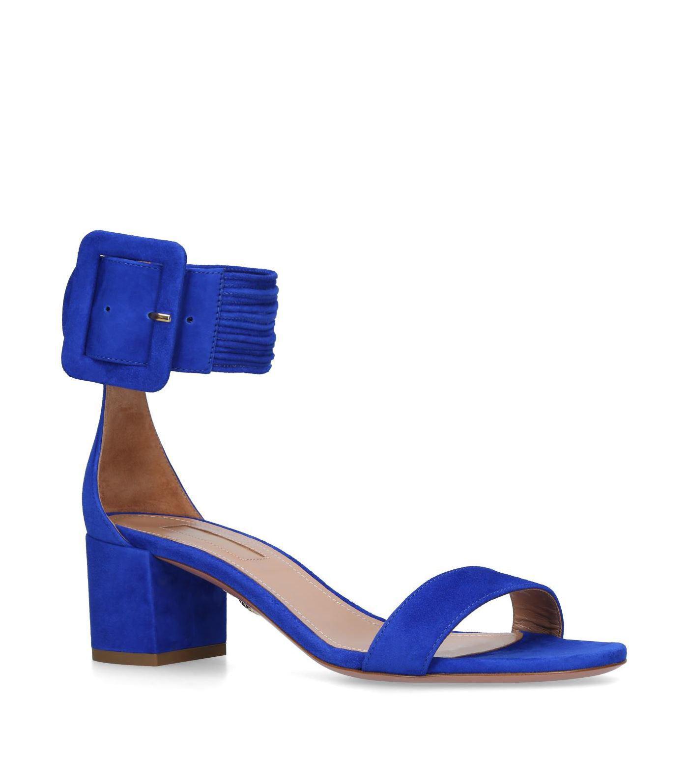Casablanca Sandals 50 in Iris Suede Aquazzura 42kAGQF
