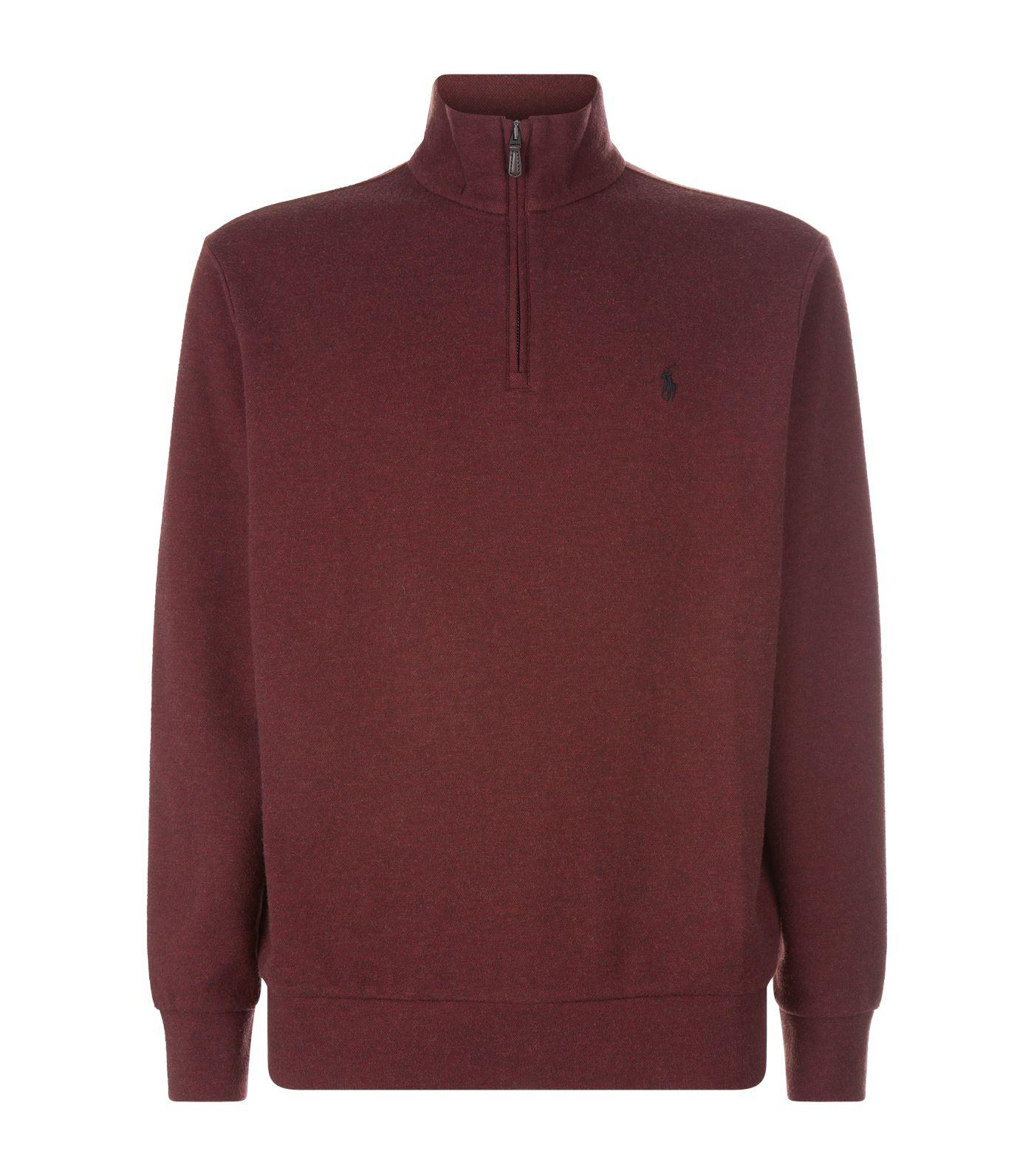 8efda62ab28fd Polo Ralph Lauren Half Zip Sweater in Red for Men - Lyst