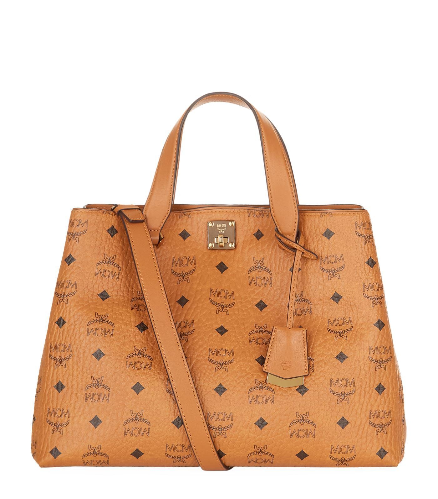 Free Shipping In China signature Boston tote - Yellow & Orange MCM Cheap Sale Pick A Best Pre Order Cheap Online Free Shipping Looking For LjReGd
