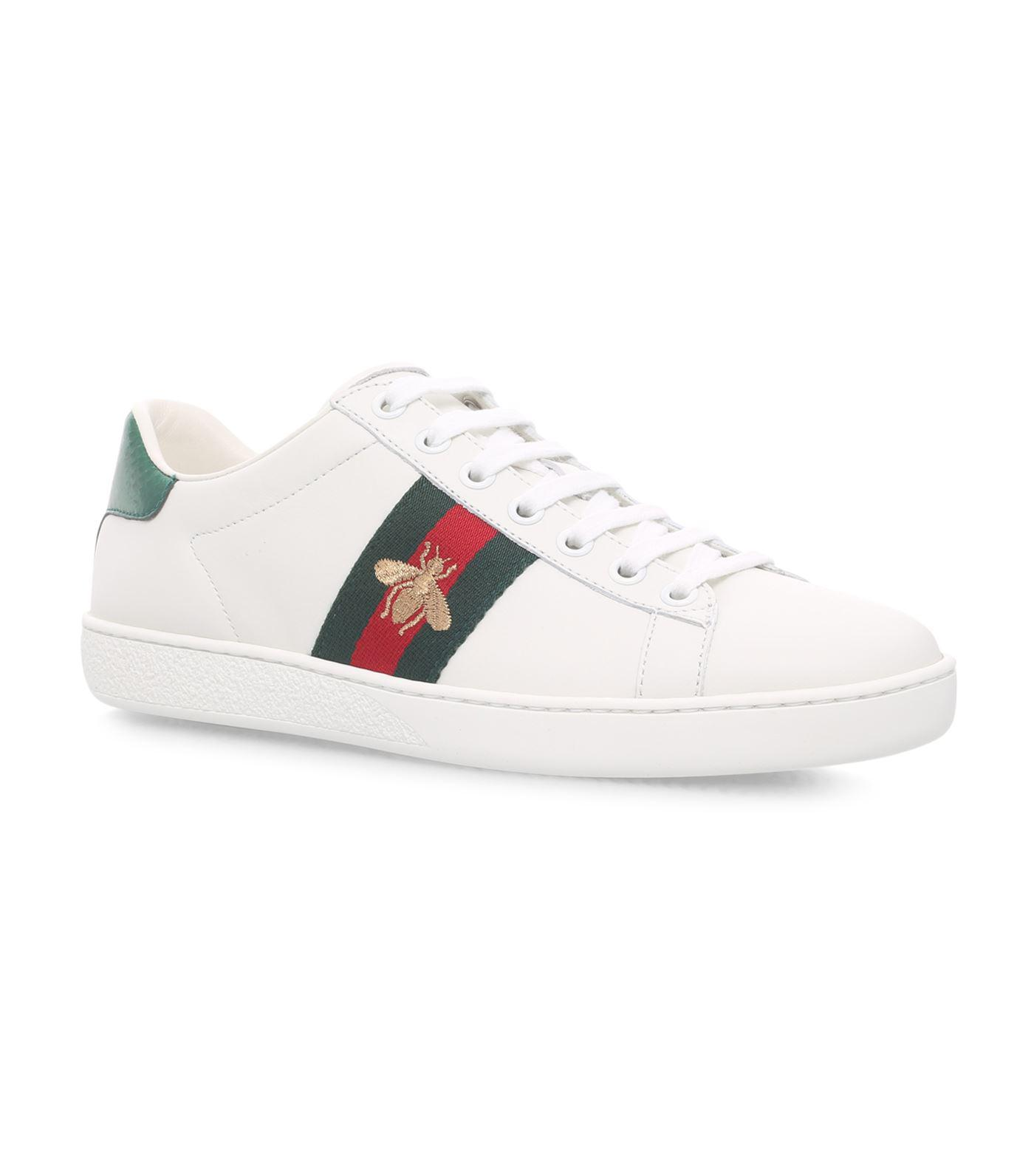 GucciBee New Ace Folded Sneakers 4OSh3
