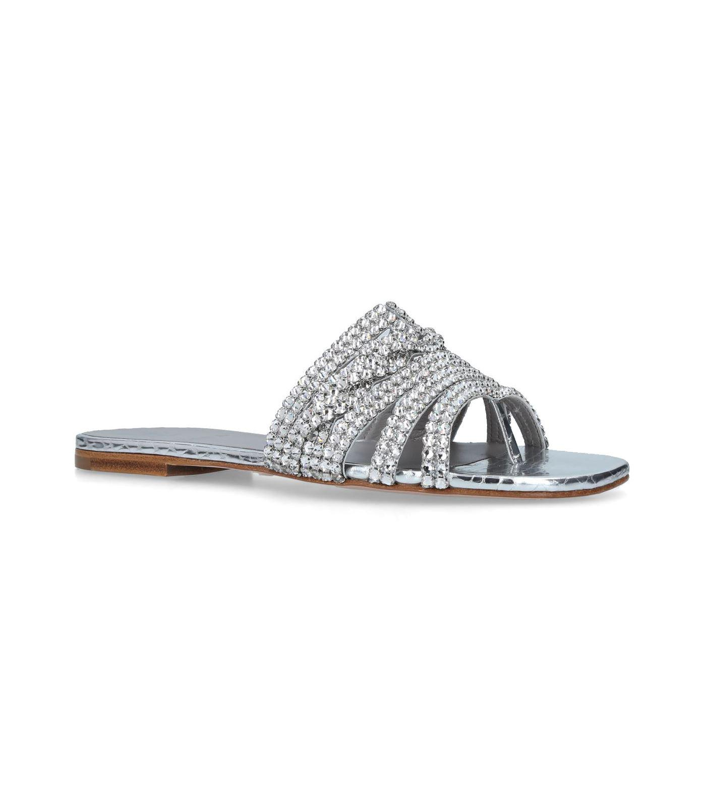 abac6b40ba69 Lyst - Gina Embellished Loren Slides in Metallic