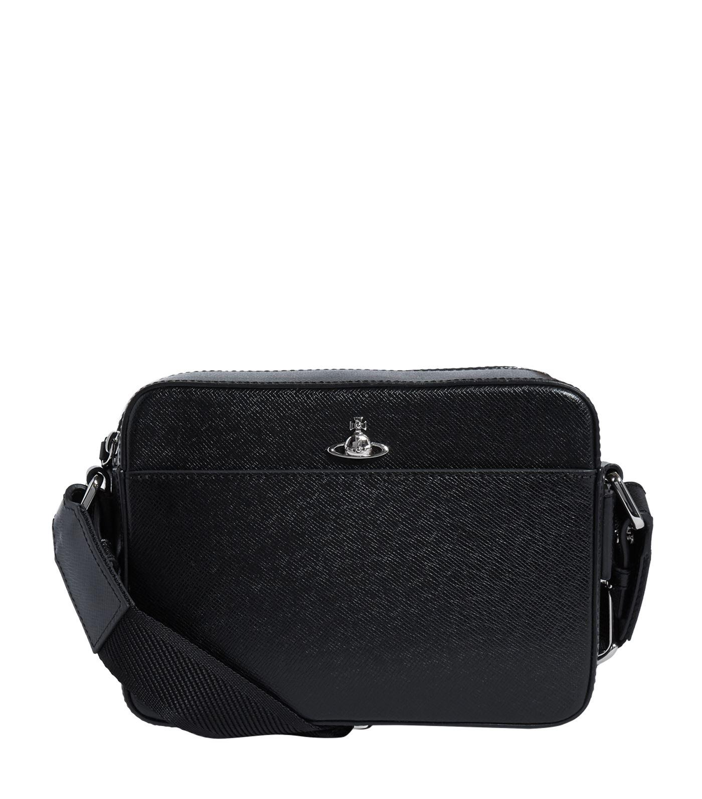 84d88e75e68a Lyst - Vivienne Westwood Small Leather Orb Cross Body Bag in Black ...