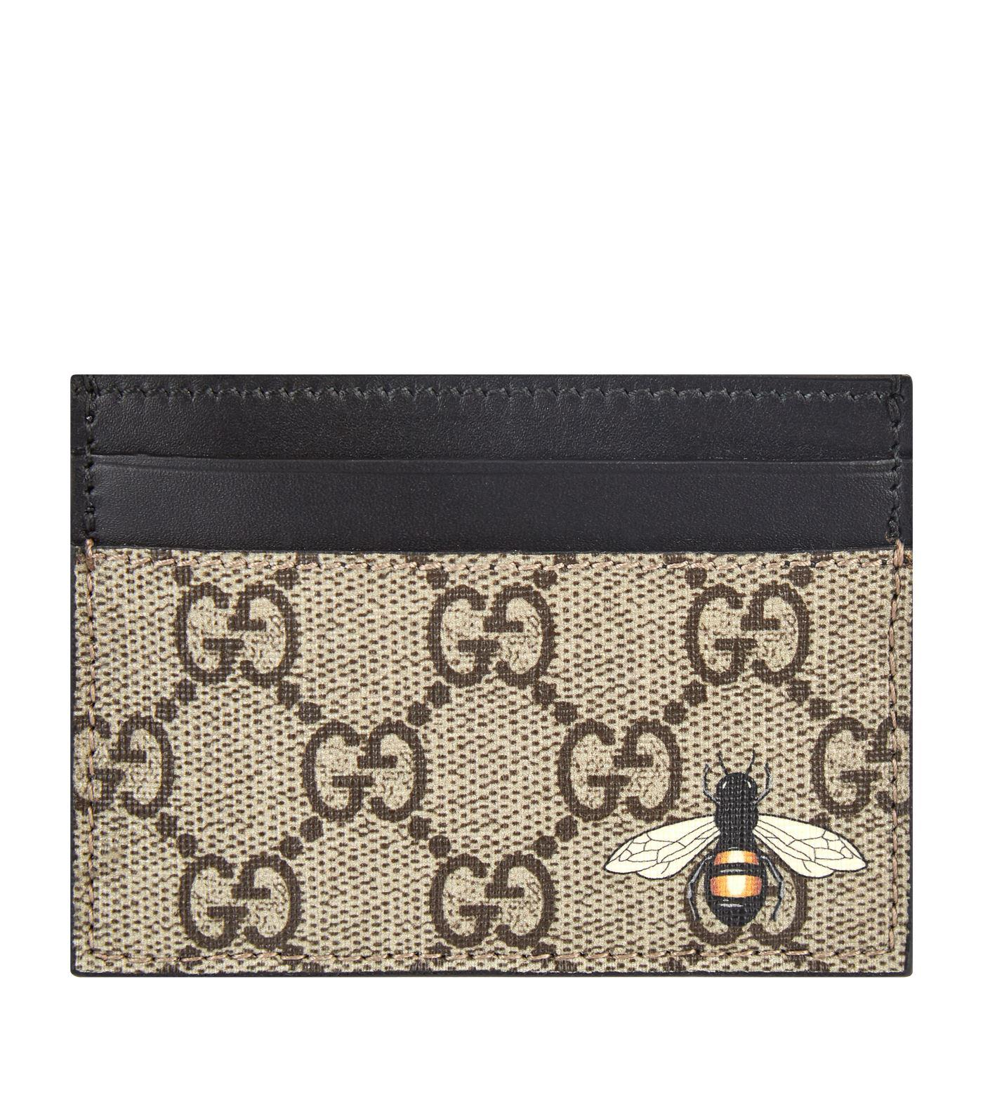 4a598a70157 Lyst - Gucci GG Supreme Card Holder in Natural for Men