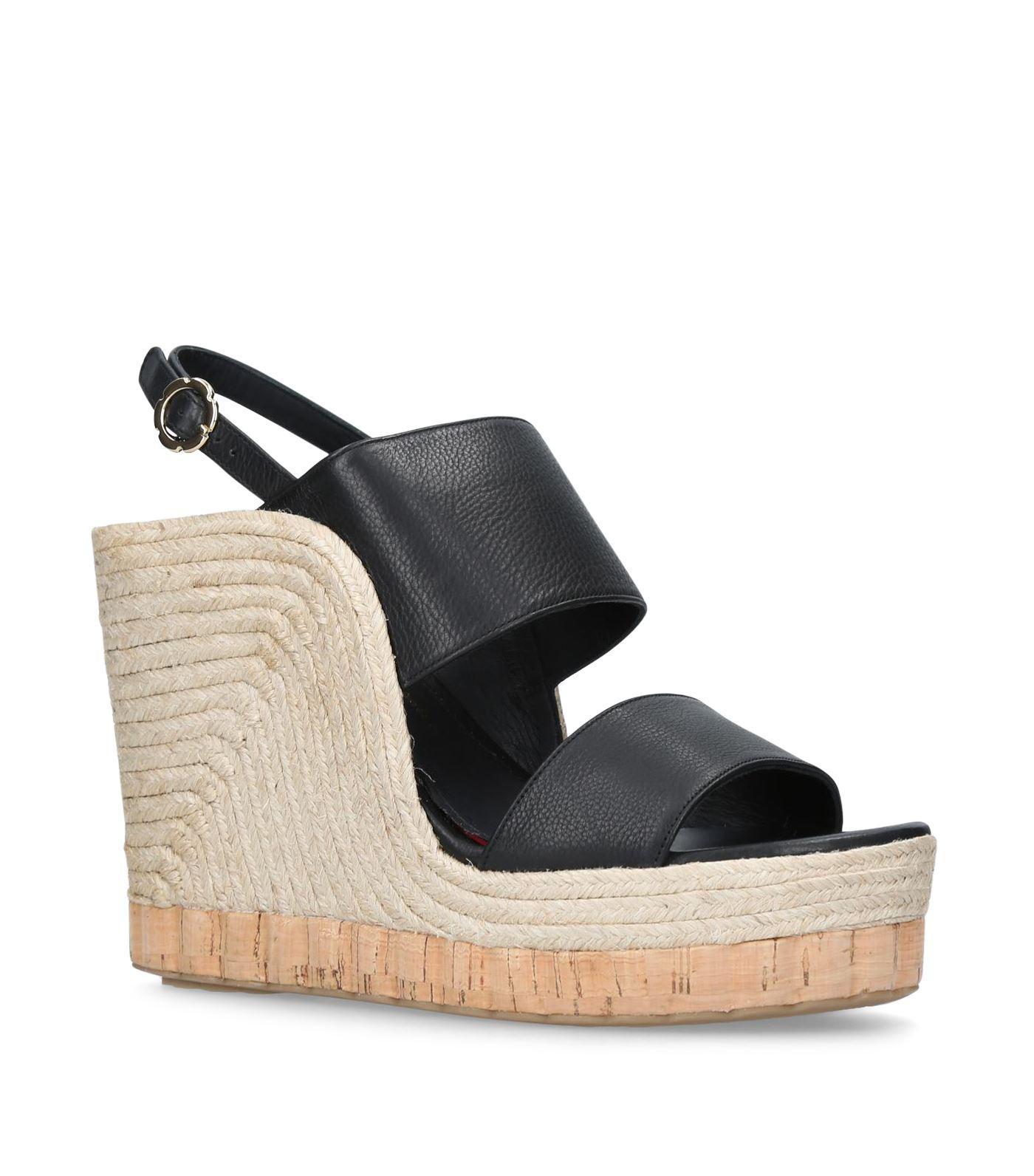 3e33cb76a51 Lyst - Ferragamo Maratea Espadrille Sandals in Black