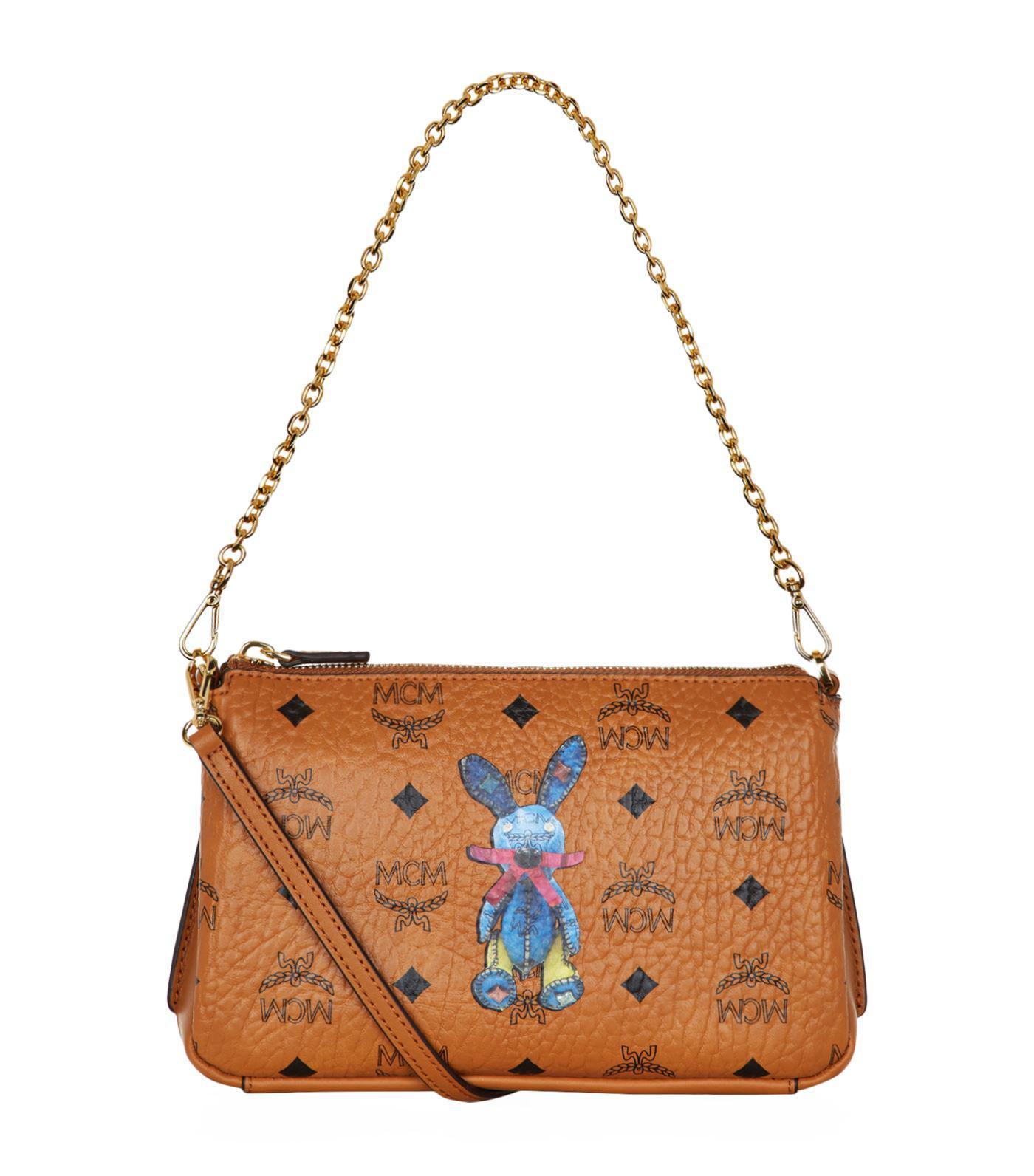392134933 Lyst - MCM Medium Rabbit Cross Body Bag in Brown