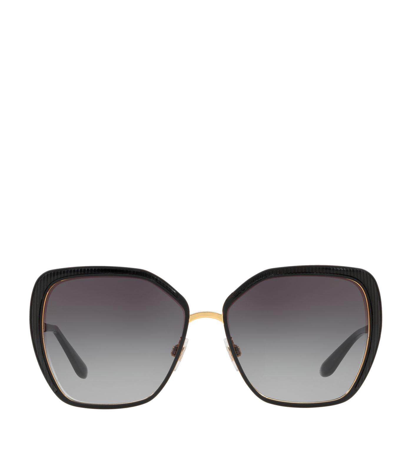219a7c46d53a Lyst - Dolce   Gabbana Oversized Square Sunglasses in Black
