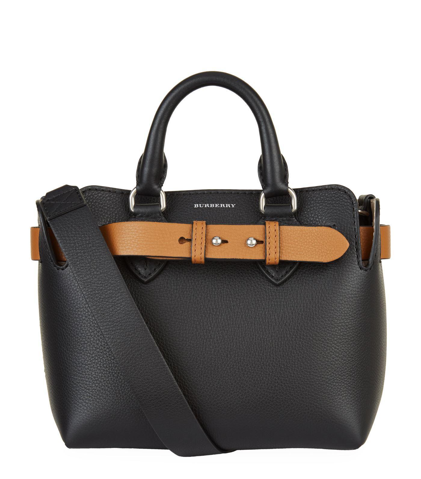 ea8ef0553ef8 Burberry - Black Baby Leather Belt Bag - Lyst. View fullscreen