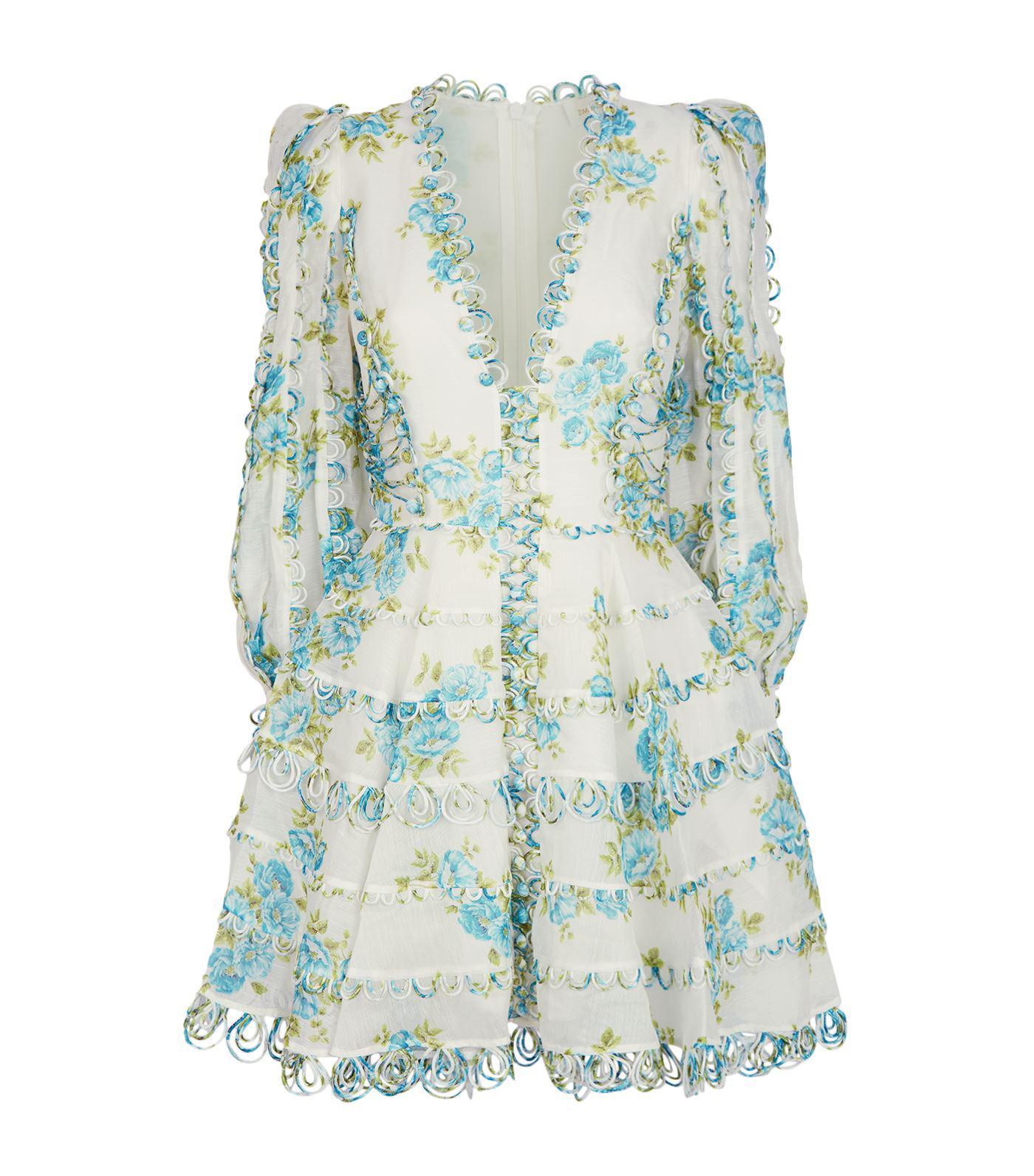 d1c3f8663ca1 Zimmermann Whitewave Honeymooners Mini Dress in White - Lyst