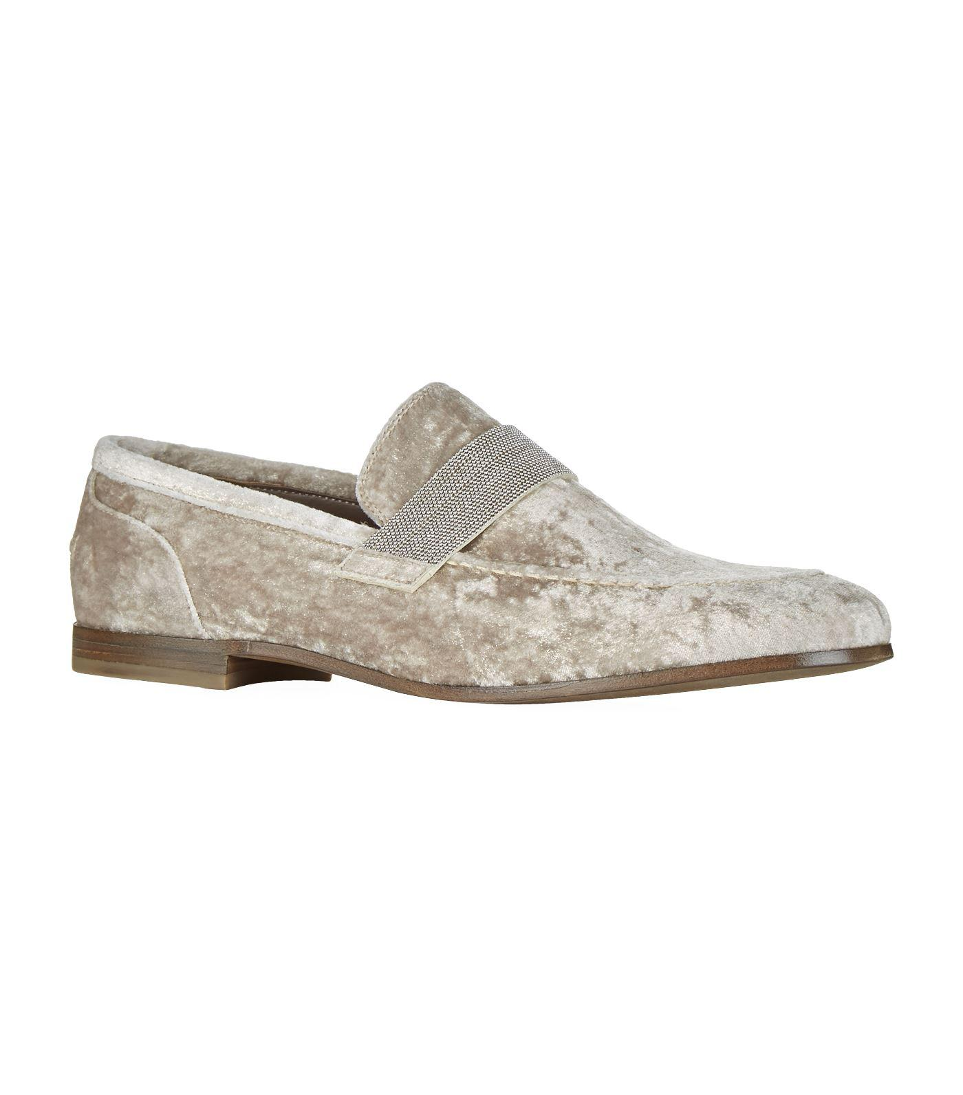 Brunello Cucinelli Velvet slippers For sale online clearance store cheap price recommend cheap price 6yO0v60