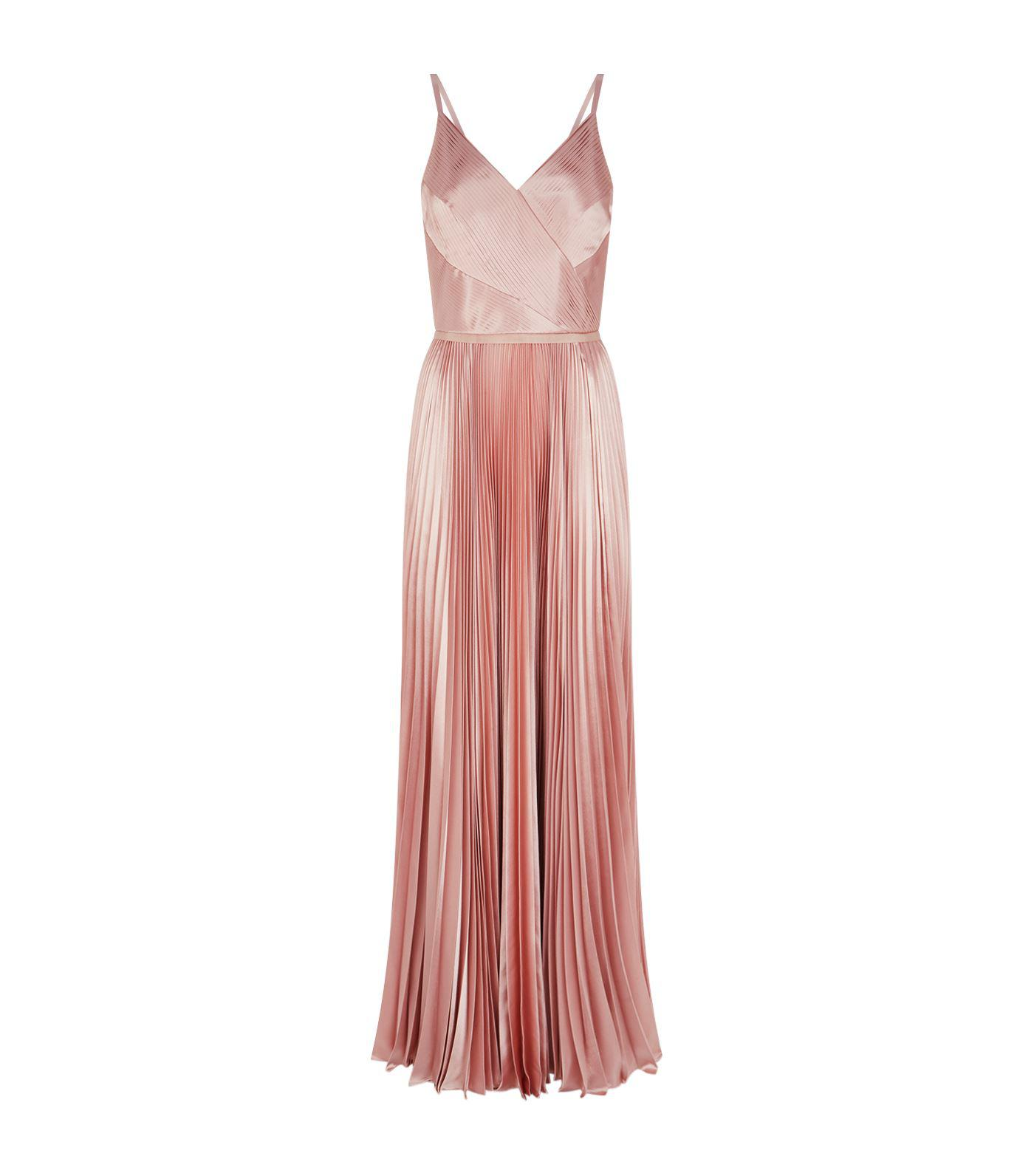 107e96ffdae7 Ted Baker Efrona Pleated Maxi Dress in Pink - Lyst