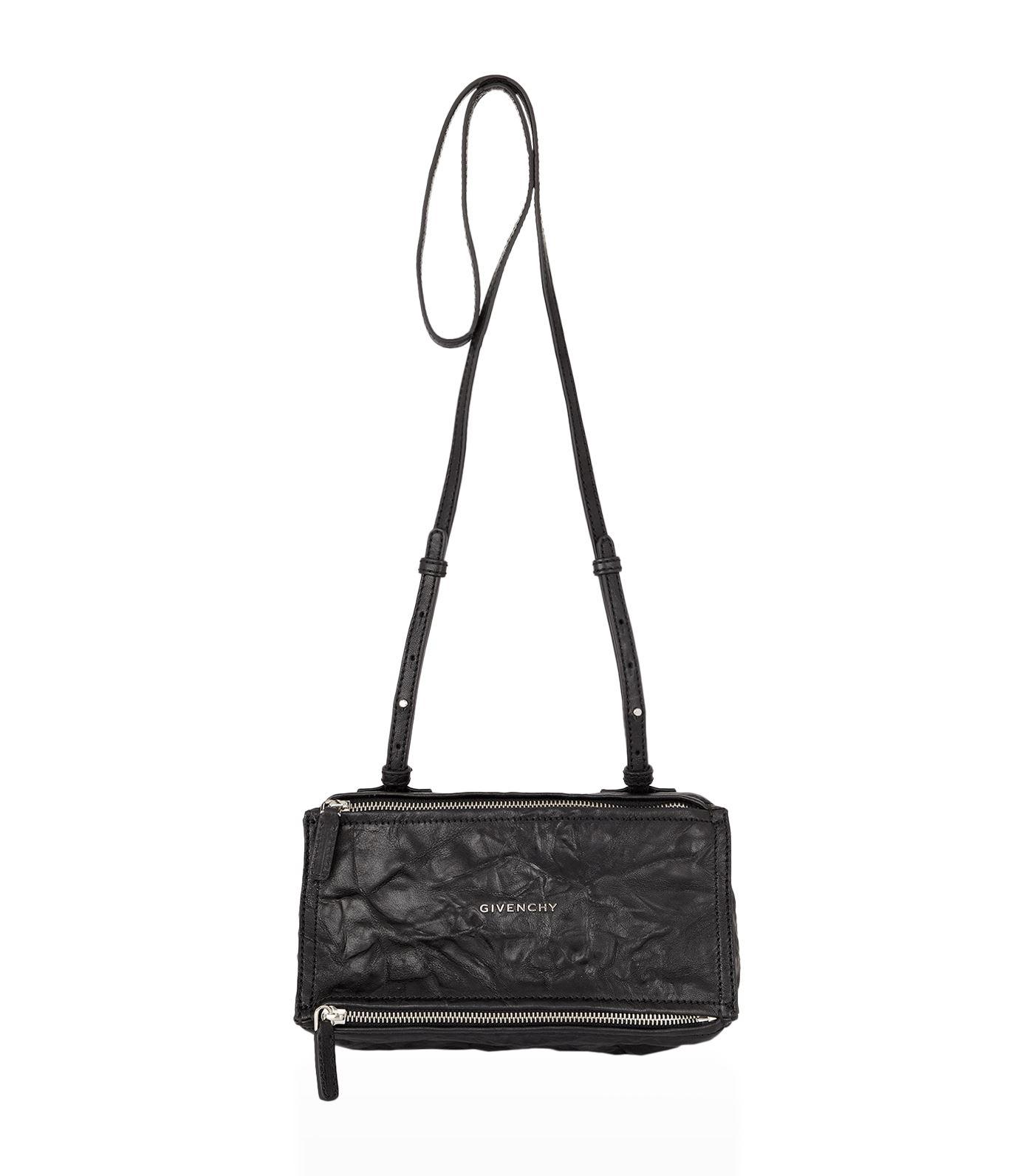 ad9495f136 Givenchy Mini Washed Leather Pandora Shoulder Bag in Black - Lyst